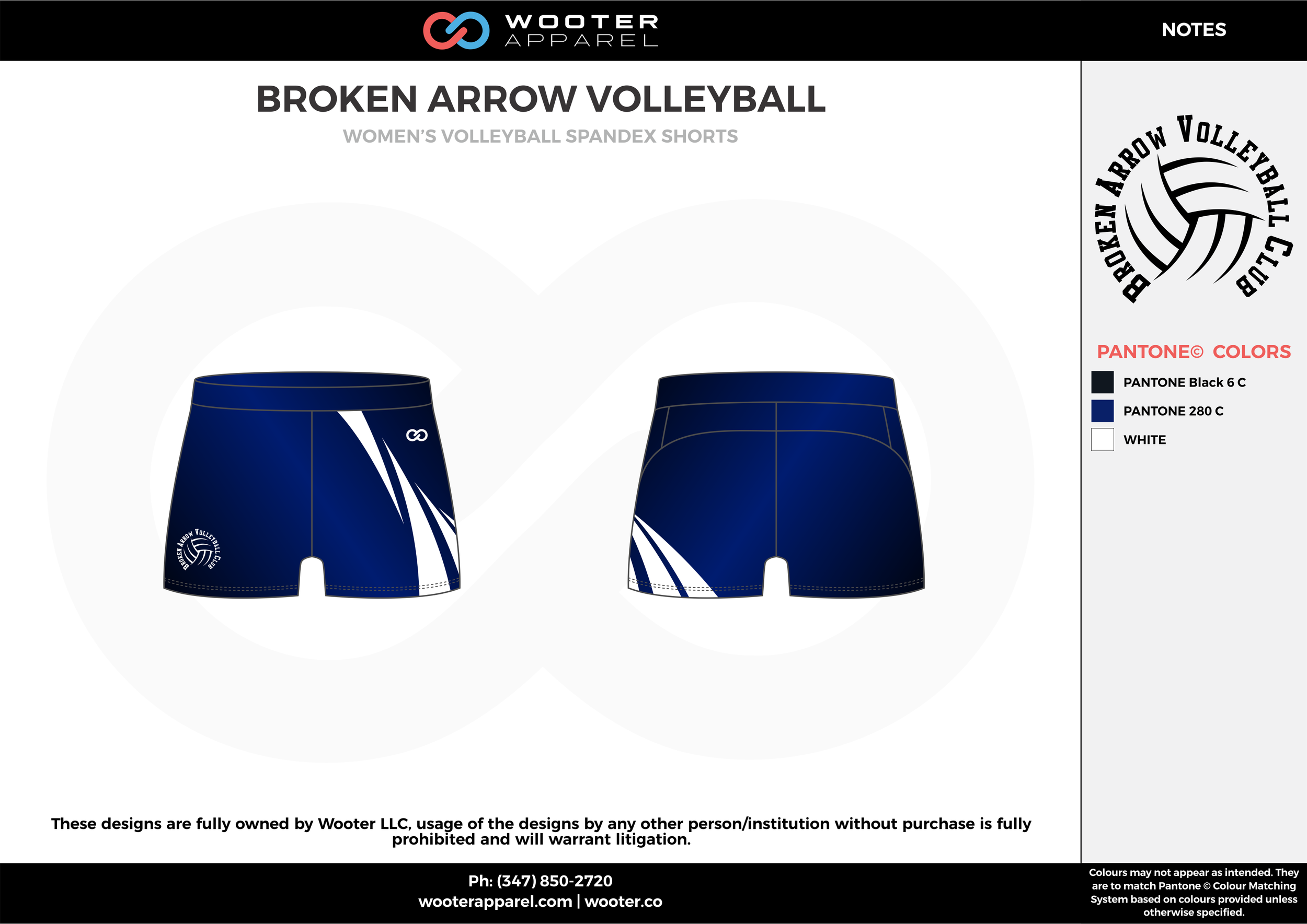 BROKEN ARROW VOLLEYBALL black blue white Volleyball Uniforms, Jerseys, Shorts