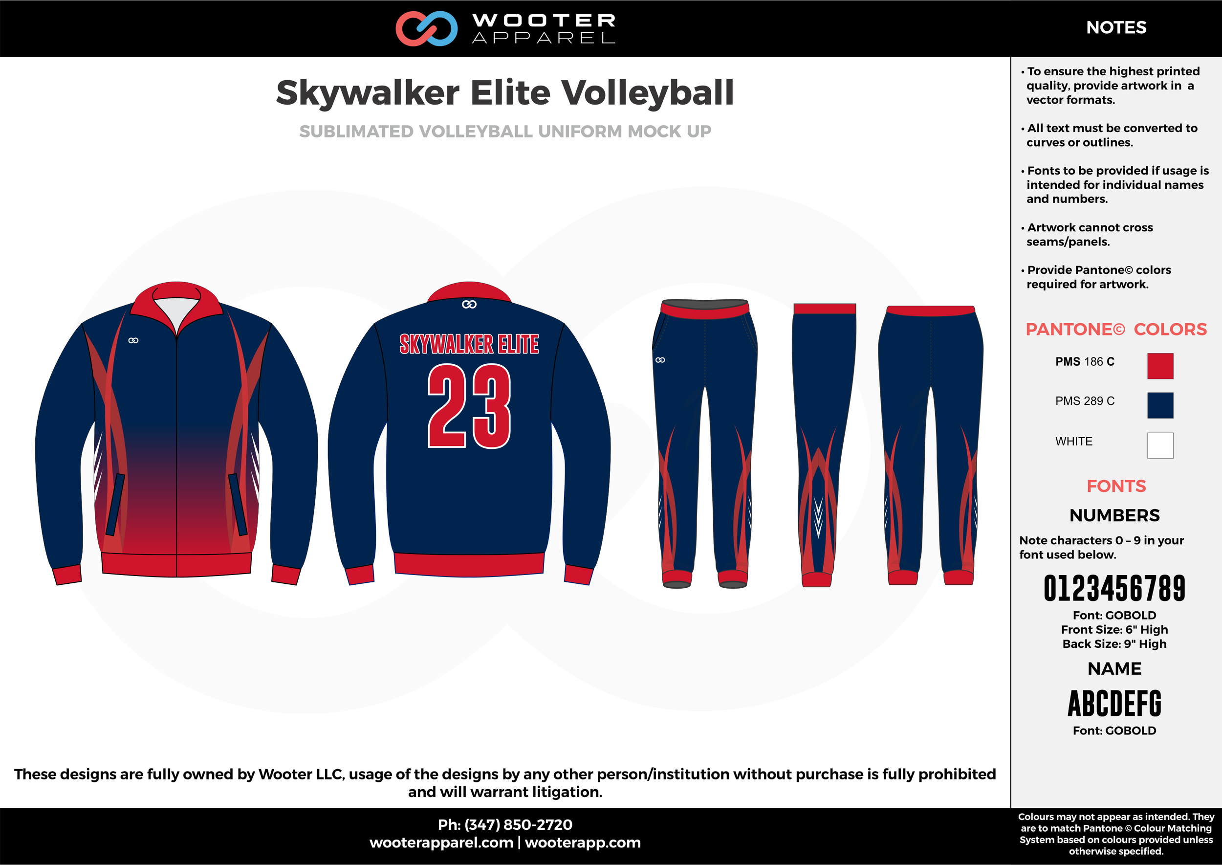 SKYWALKER ELITE VOLLEYBALL red dark blue Volleyball Uniforms, Long Sleeve Jerseys, Pants