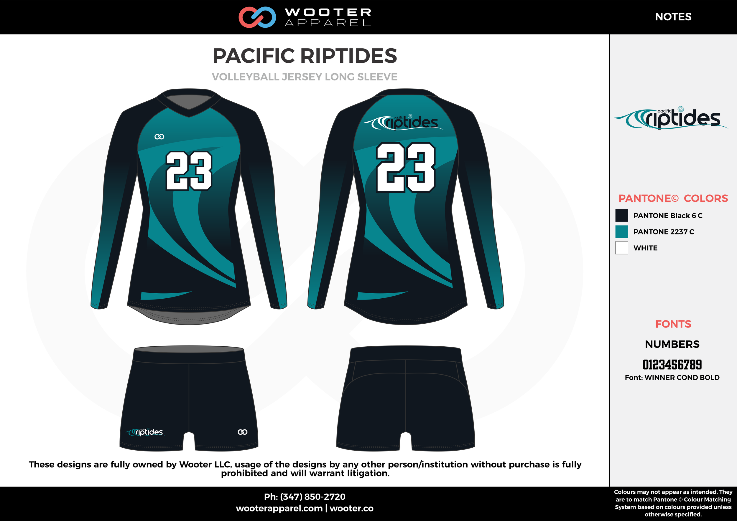 PACIFIC RIPTIDES black water blue white Volleyball Uniforms, Jerseys, Shorts