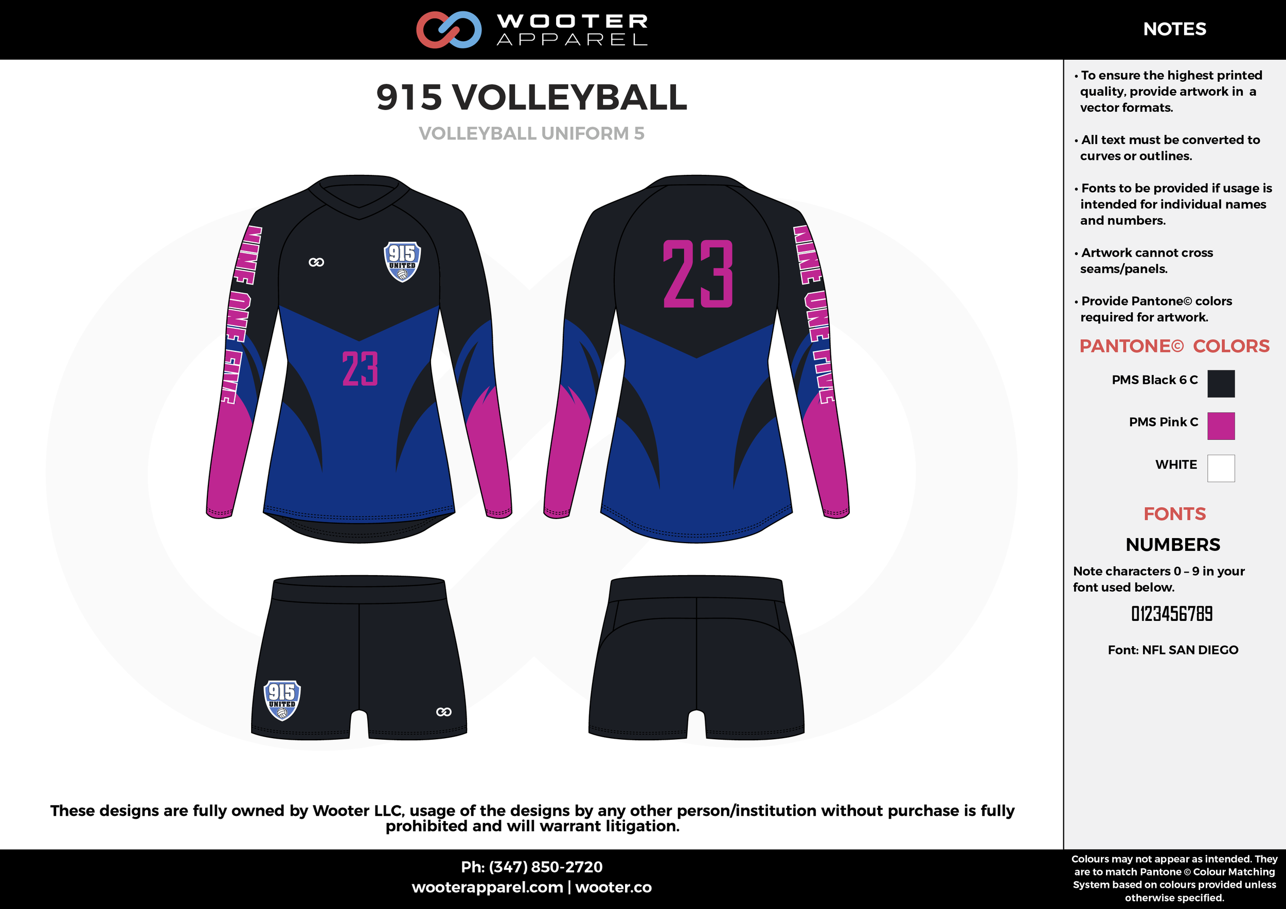 915 VOLLEYBALL black pink blue white Volleyball Uniforms, Long Sleeve Jerseys, Shorts