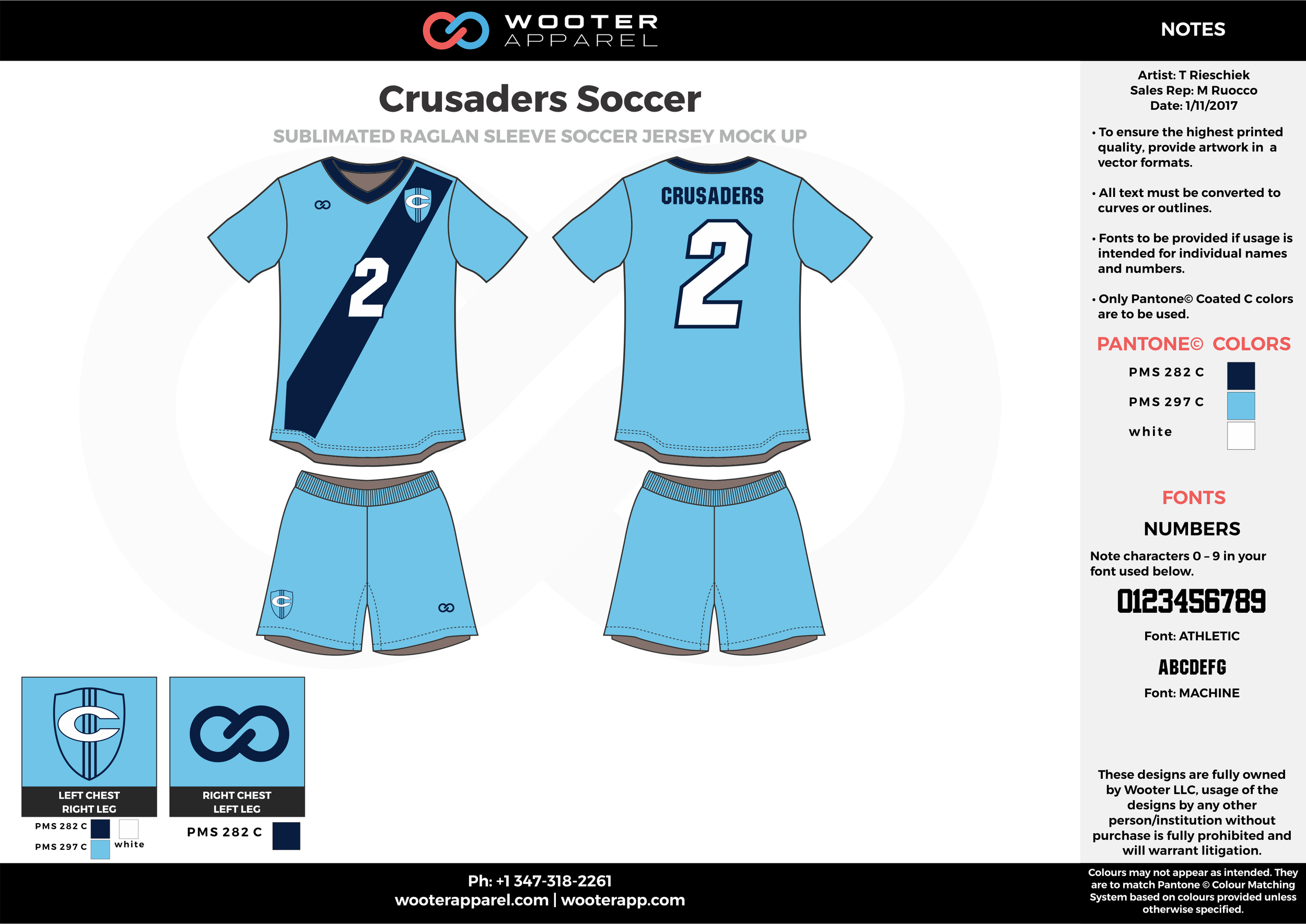 Crusaders blue white custom sublimated soccer uniform jersey shirt shorts