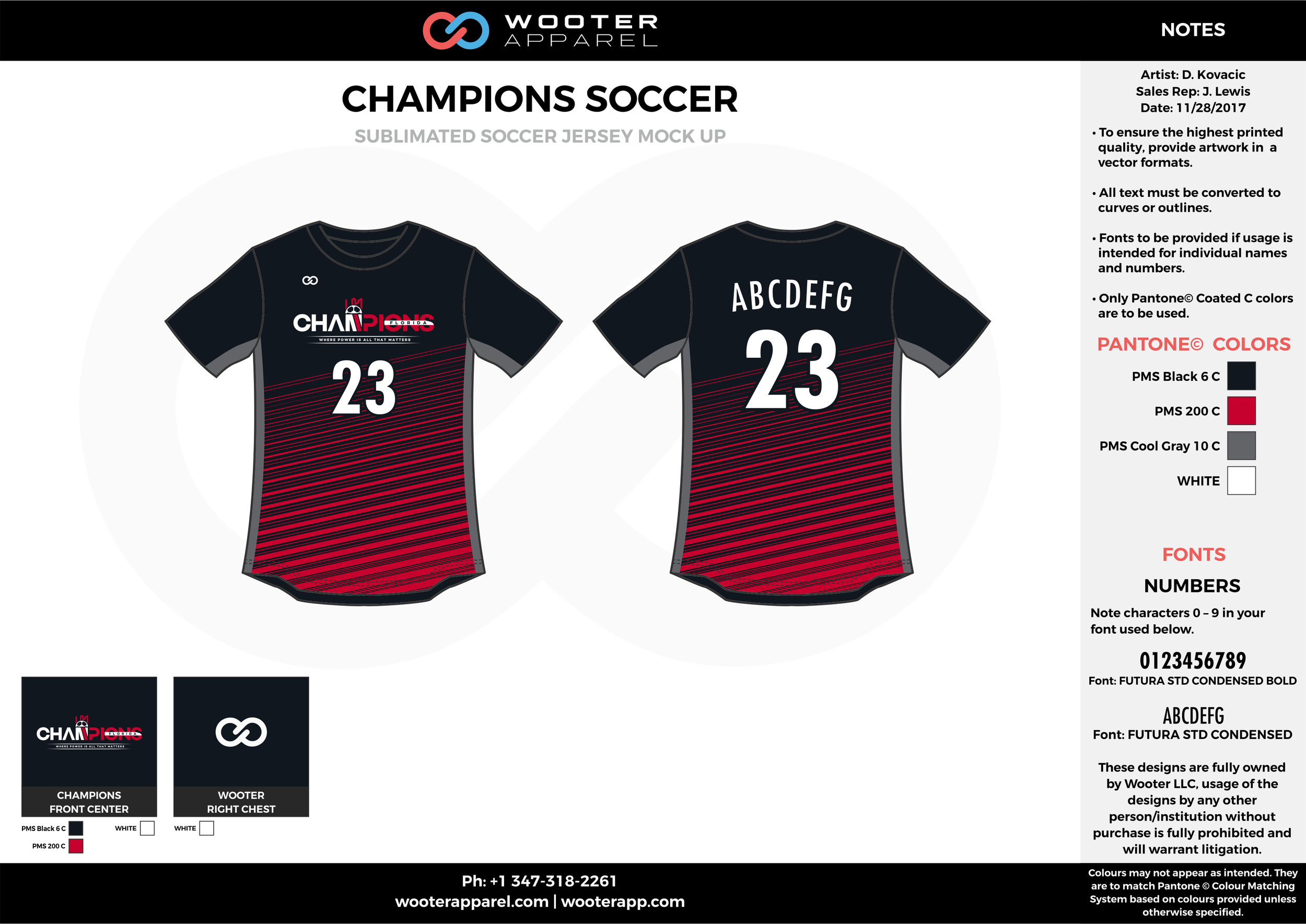 CHAMPIONS red gray black custom sublimated soccer uniform jersey shirt