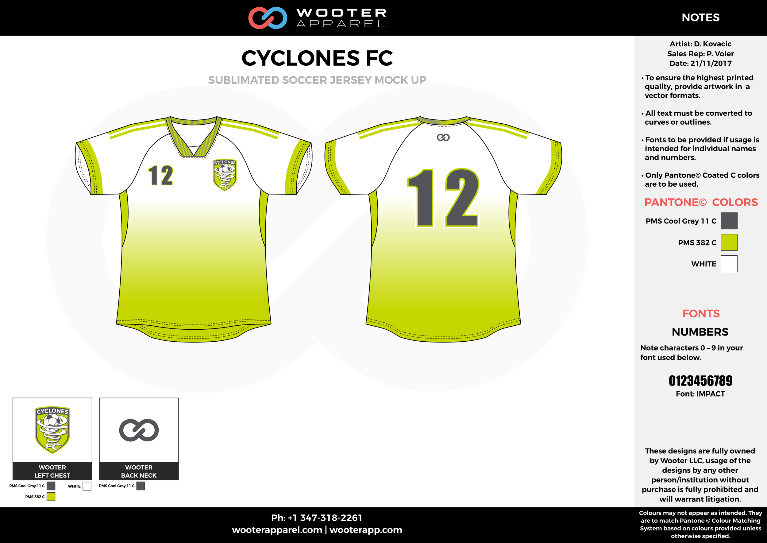 CYCLONES FC white apple green gray custom sublimated soccer uniform jersey shirt