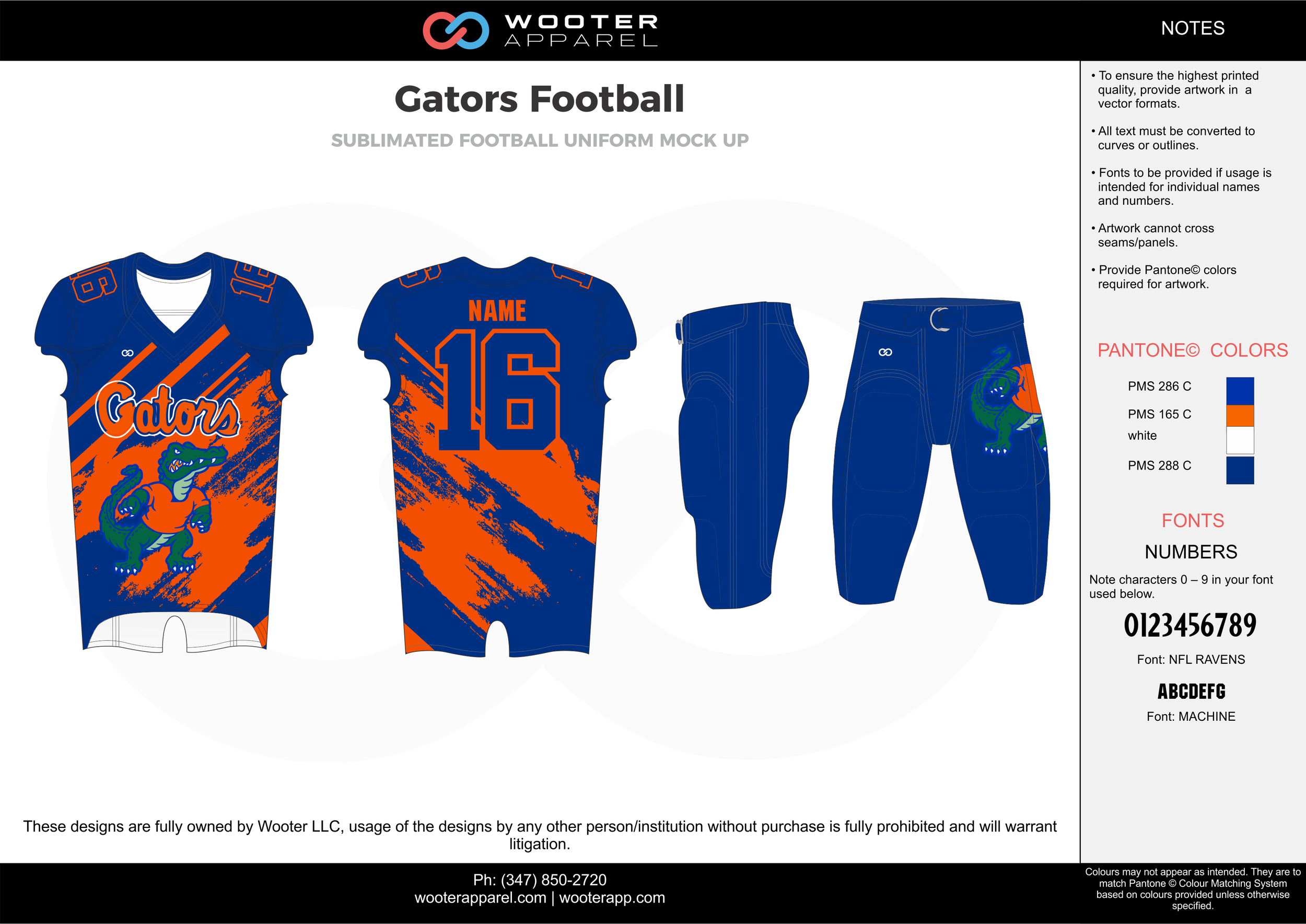 Gators Football blue orange white football uniforms jerseys pants