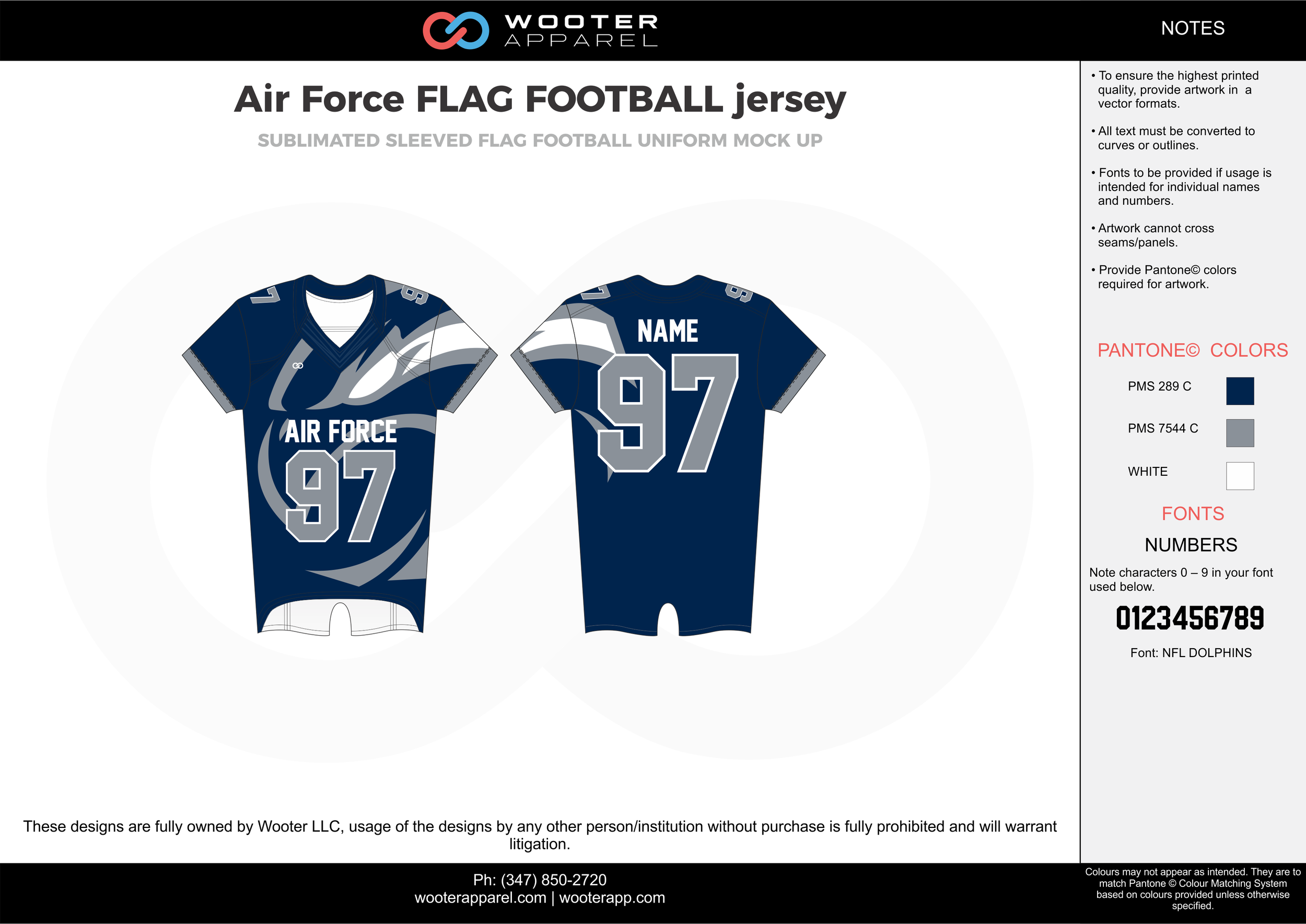 Air Force Flag Football Jersey blue gray white flag football uniforms jerseys top