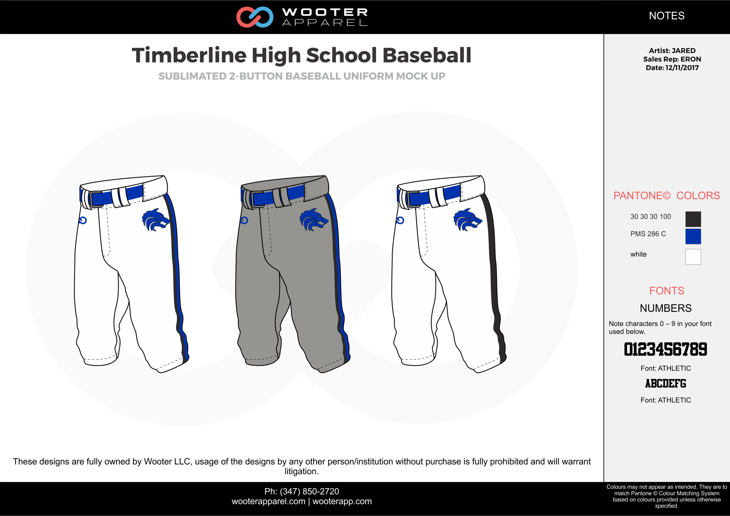 Timberline High School Baseball white gray blue black baseball uniforms jerseys pants