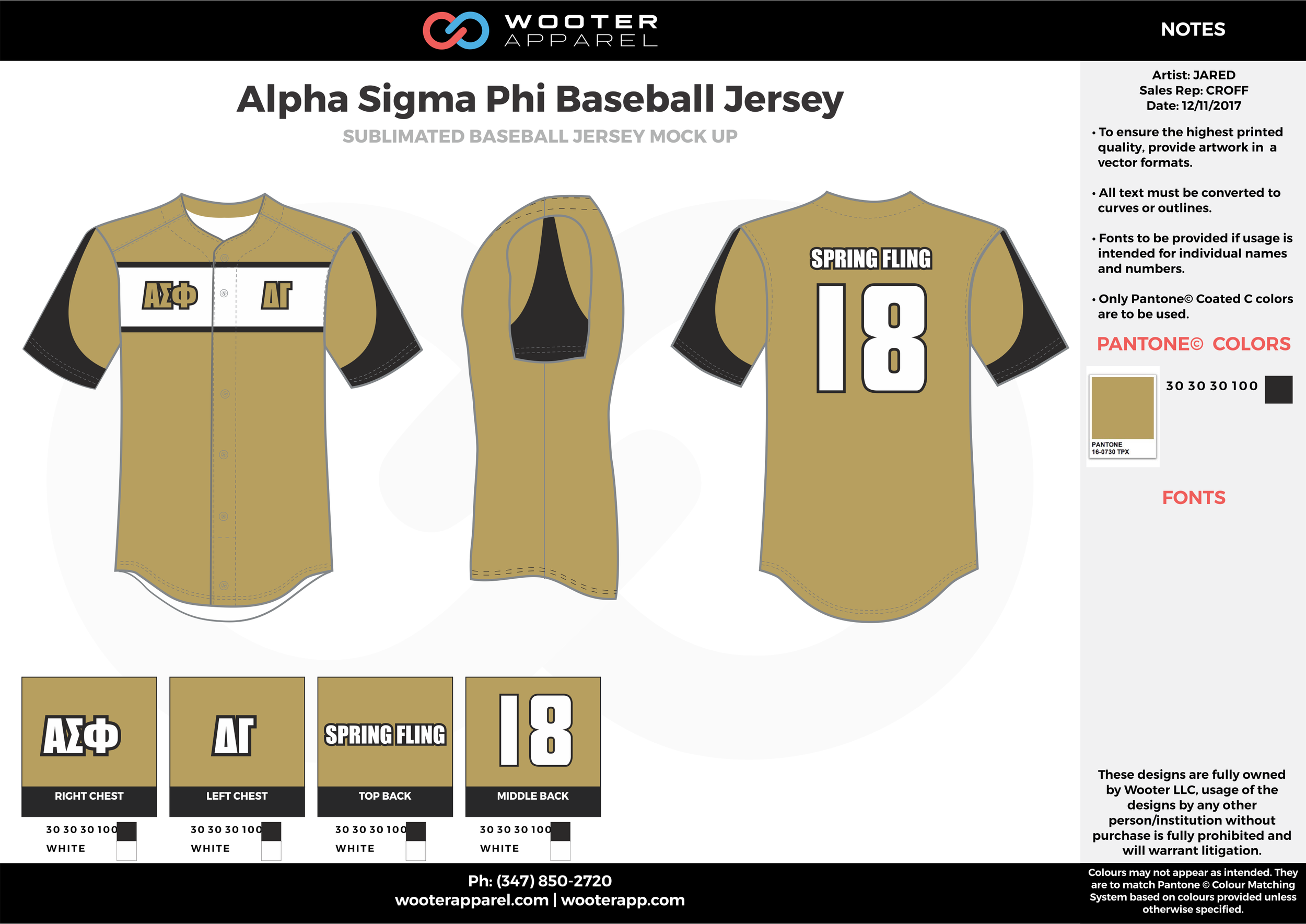 ALPHA SIGMA PHI khaki black white baseball uniforms jerseys top