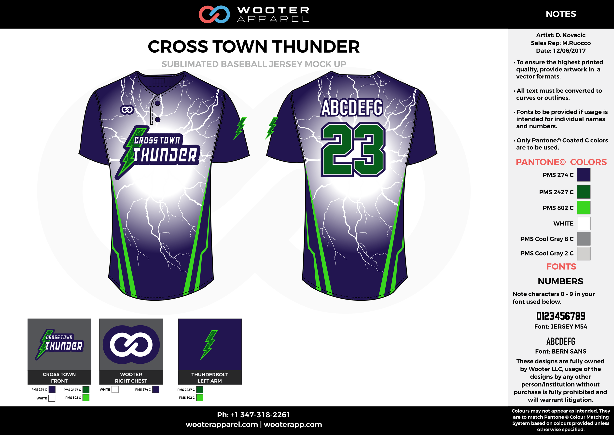 CROSS TOWN THUNDER blue green gray white baseball uniforms jerseys tops