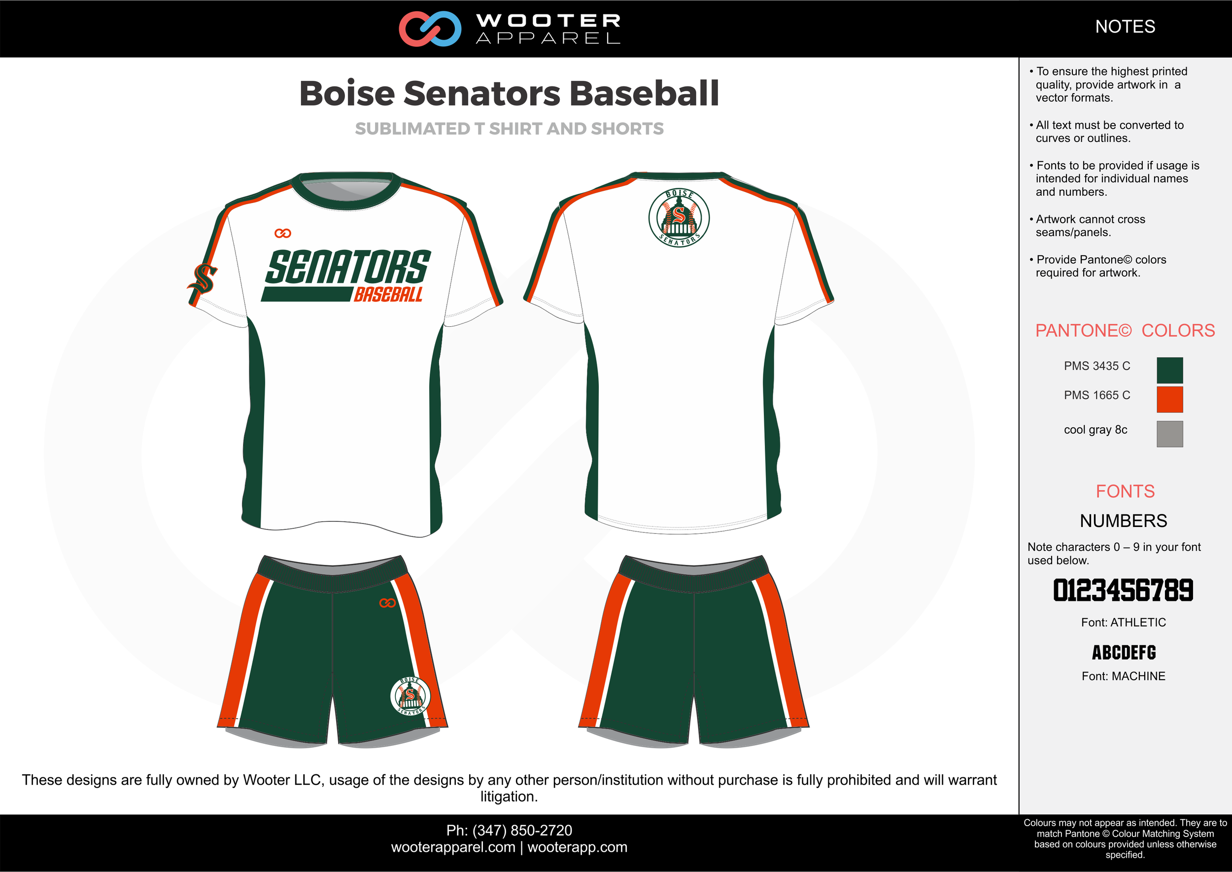BOISE SENATORS BASEBALL green white gray baseball uniforms jerseys shorts