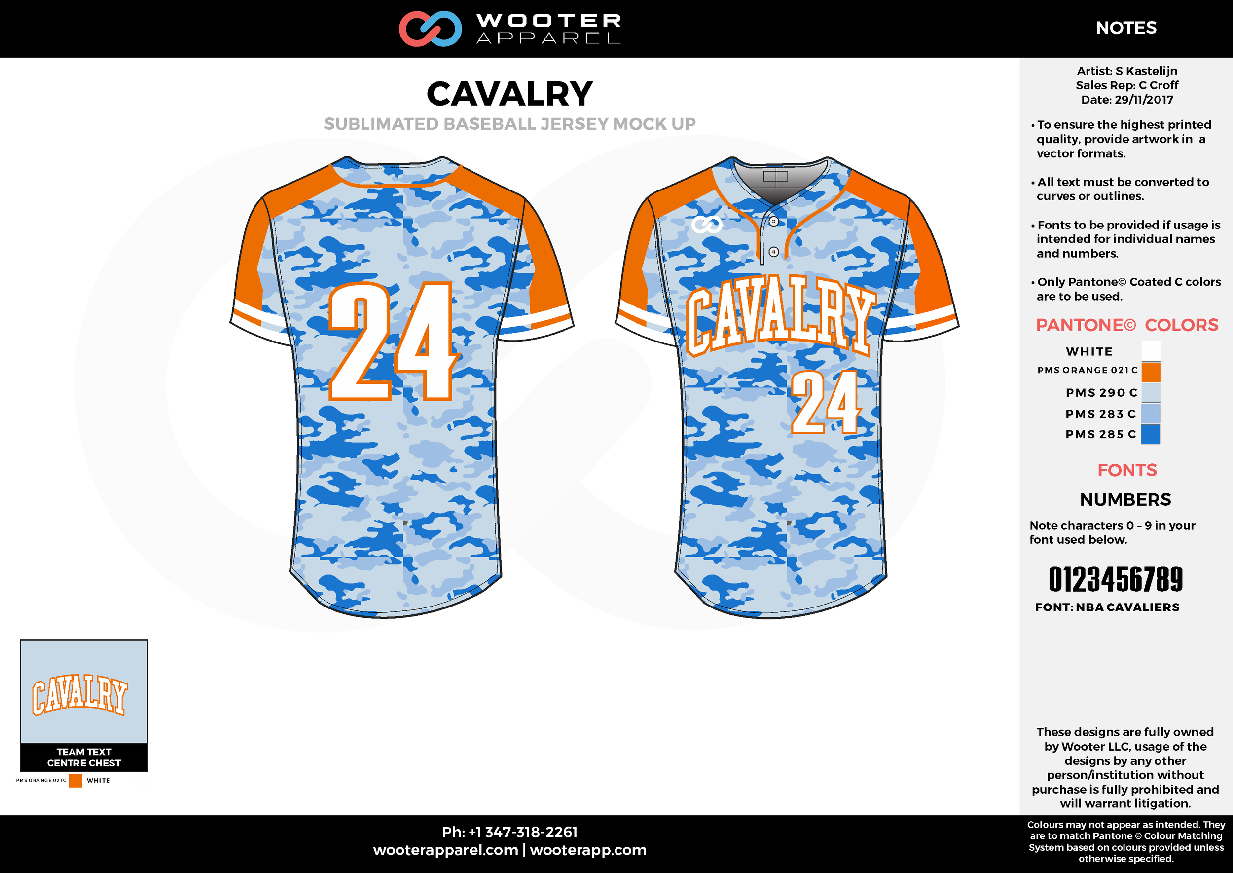 CAVALRY red blue white baseball uniforms jerseys tops