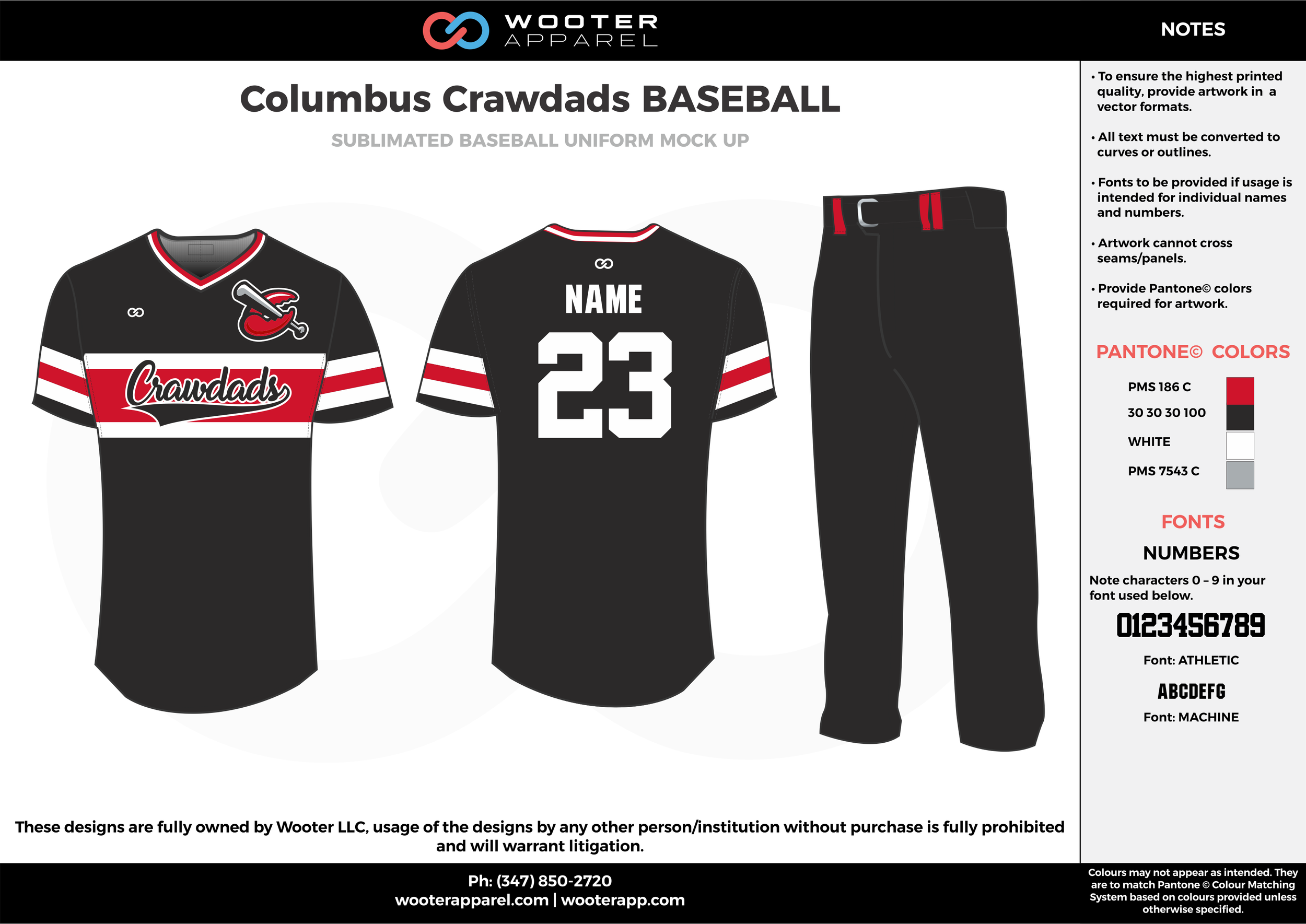 COLUMBUS CRAWDADS BASEBALL black red white gray baseball uniforms jerseys pants