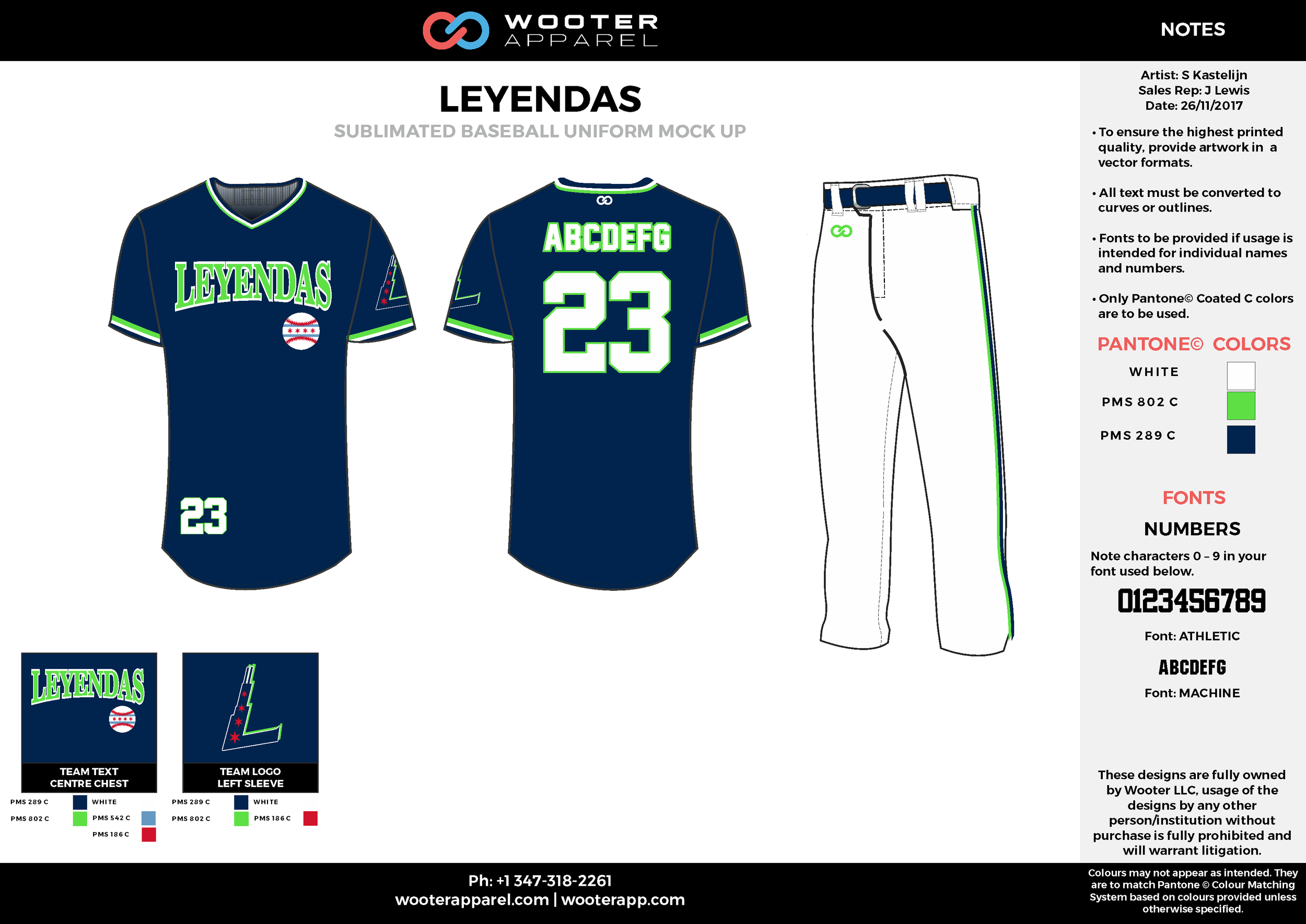 LEYENDAS black white green baseball uniforms jerseys pants