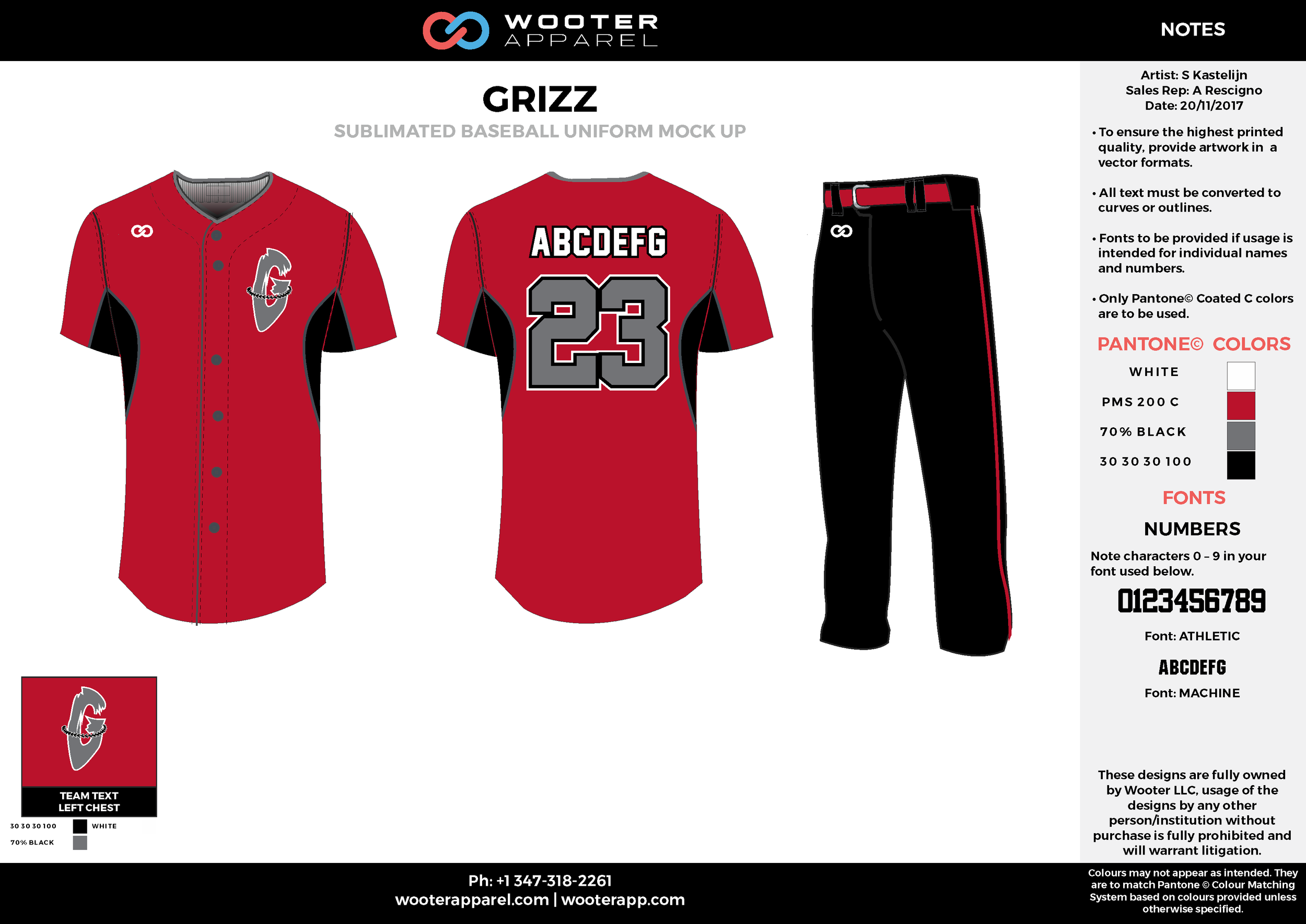 GRIZZ white black red gray baseball uniforms jerseys pants