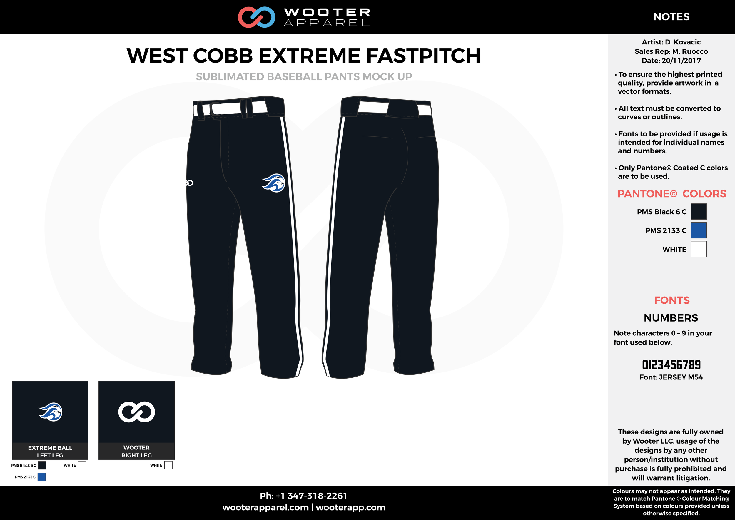 WEST COBB EXTREME FASTPITCH black blue white baseball uniforms jerseys pants