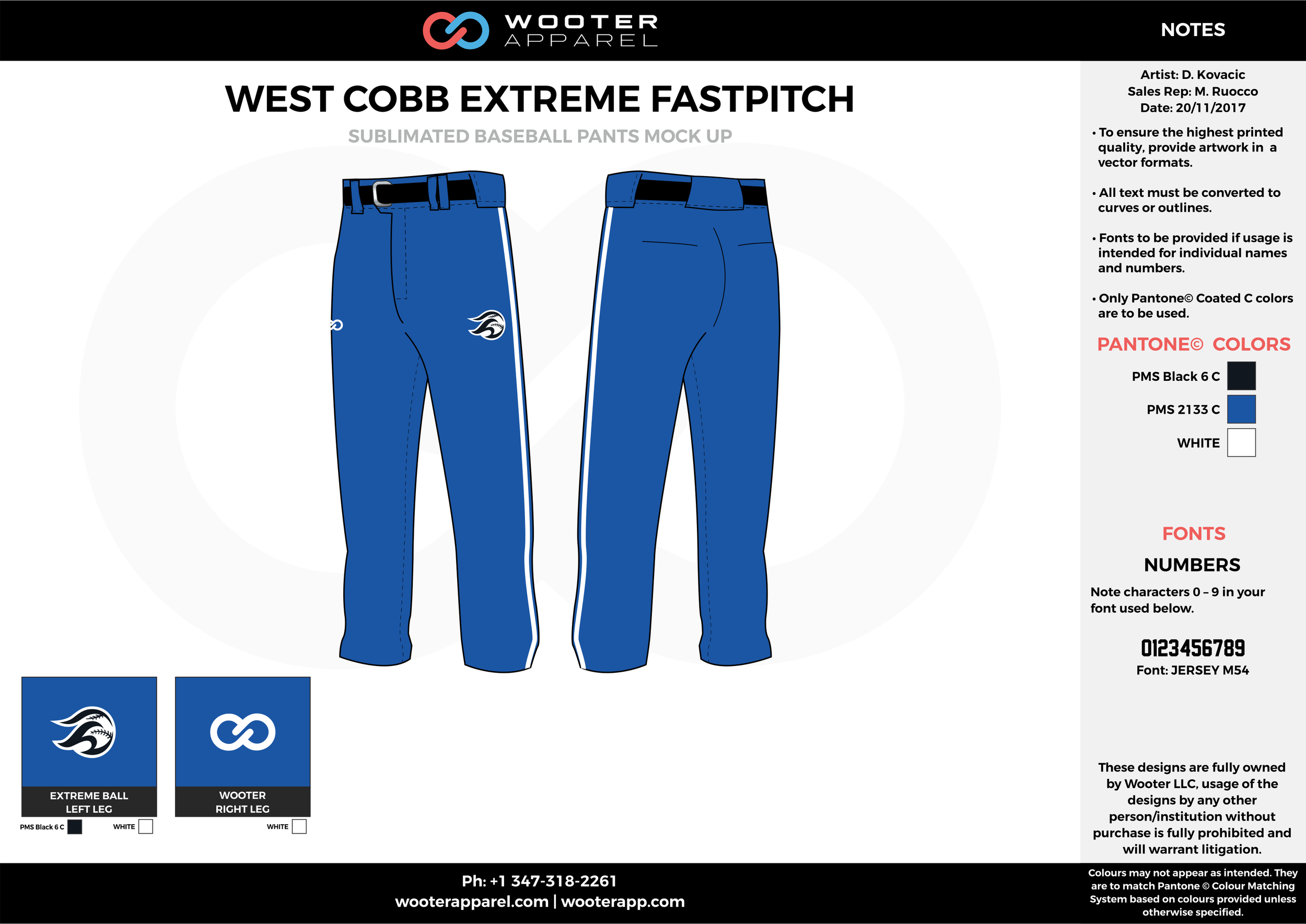 WEST COBB EXTREME FASTPITCH blue black white baseball uniforms jerseys pants