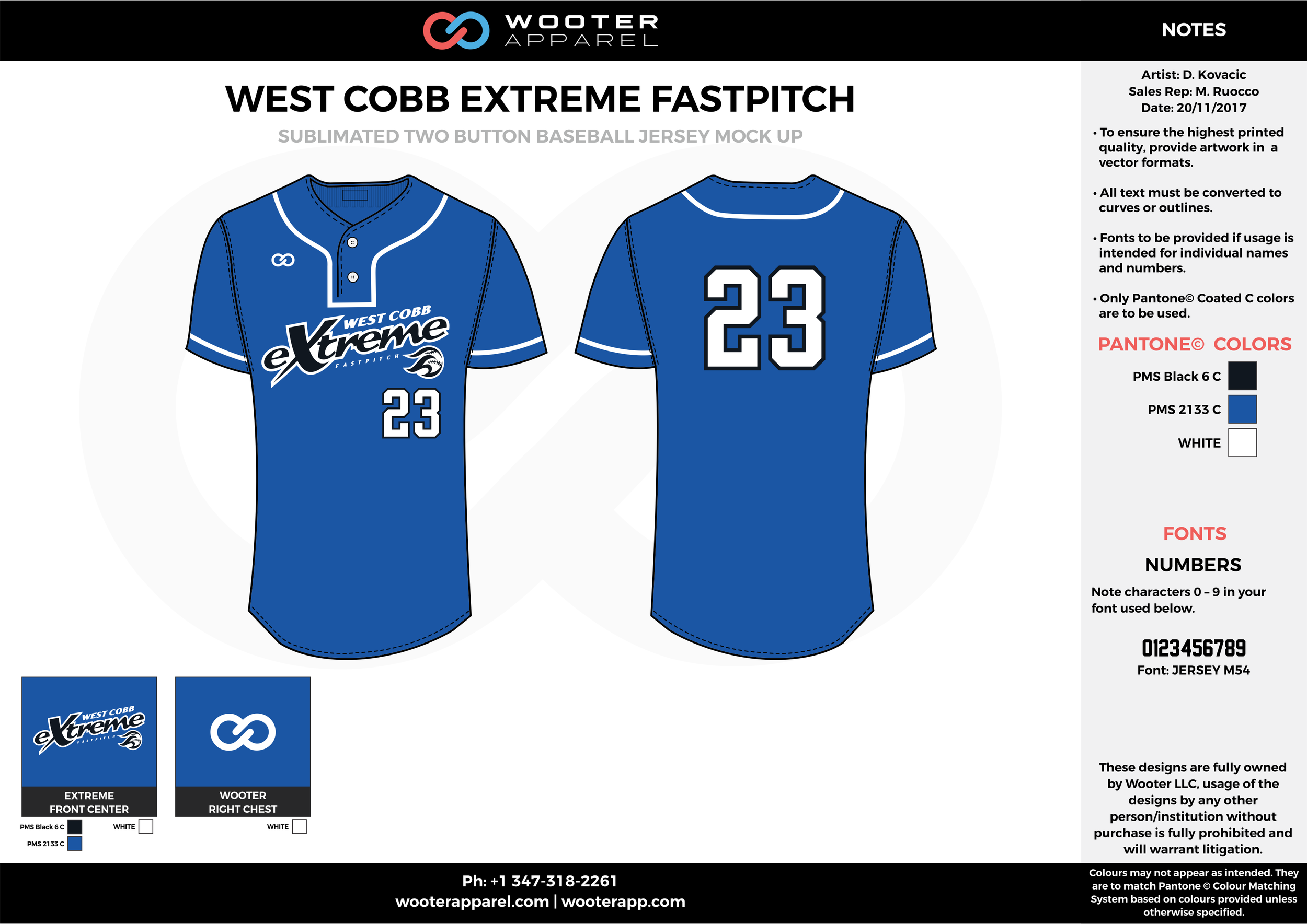 WEST COBB EXTREME FASTPITCH blue black white baseball uniforms jerseys tops