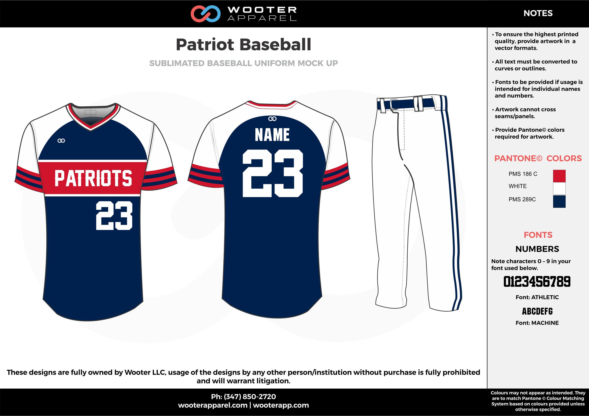 PATRIOT BASEBALL navy blue white red baseball uniforms jerseys pants