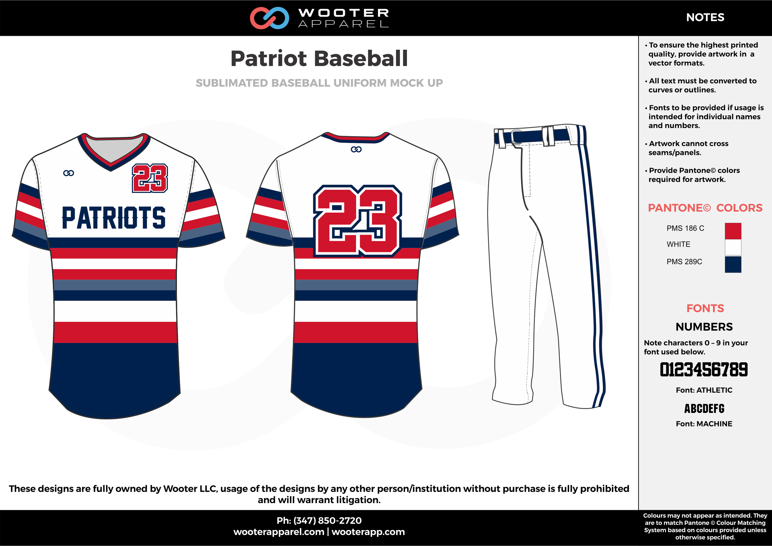 PATRIOT BASEBALL white red dark blue baseball uniforms jerseys pants