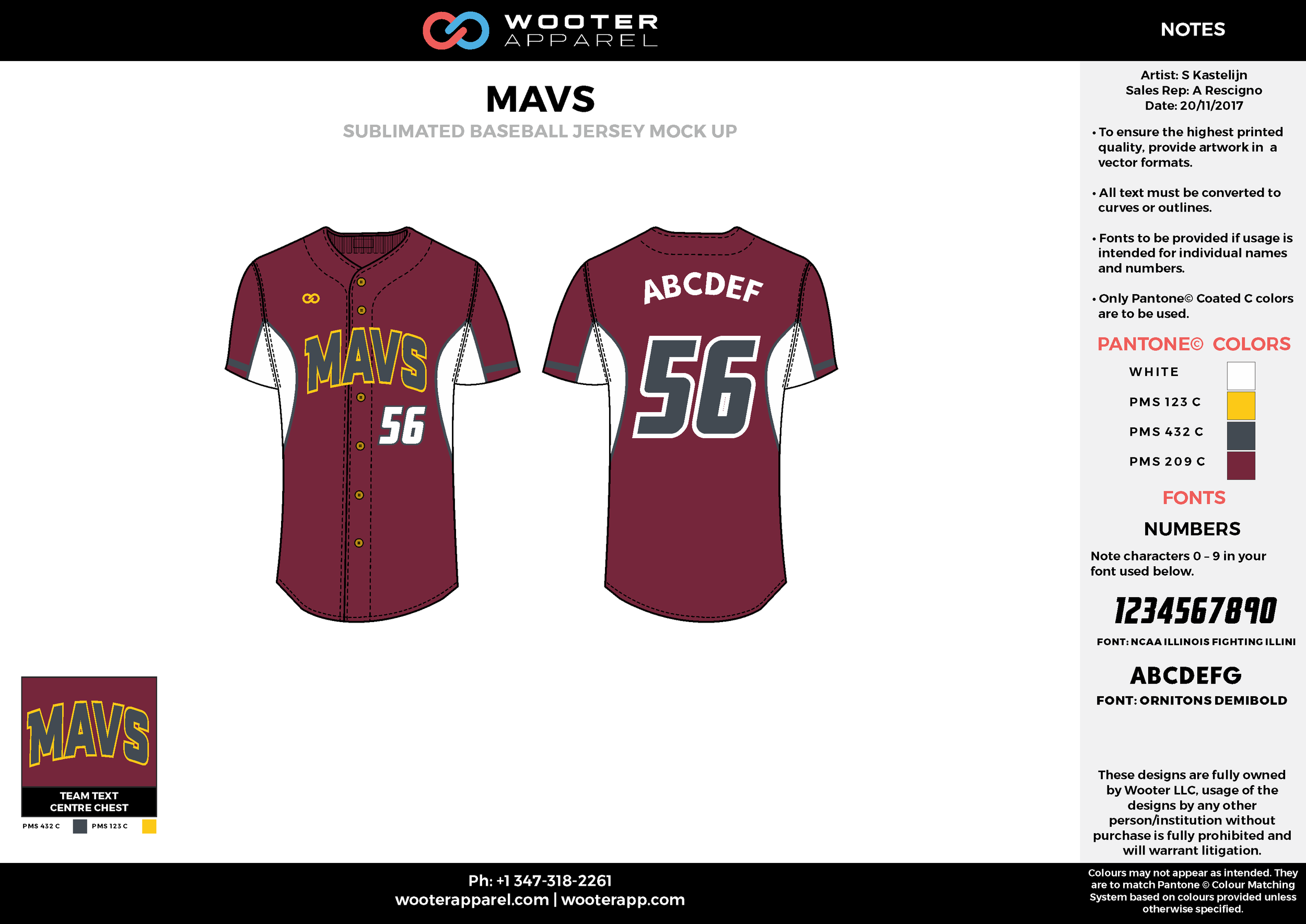 MAVS maroon white gray yellow baseball uniforms jerseys tops