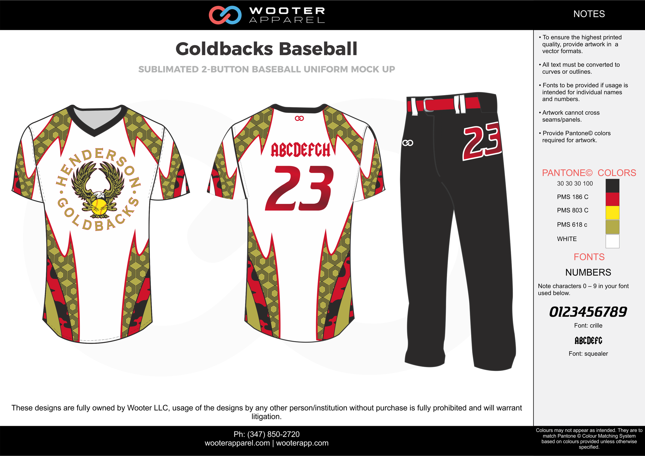GOLDBACKS BASEBALL red black white yellow gold baseball uniforms jerseys pants