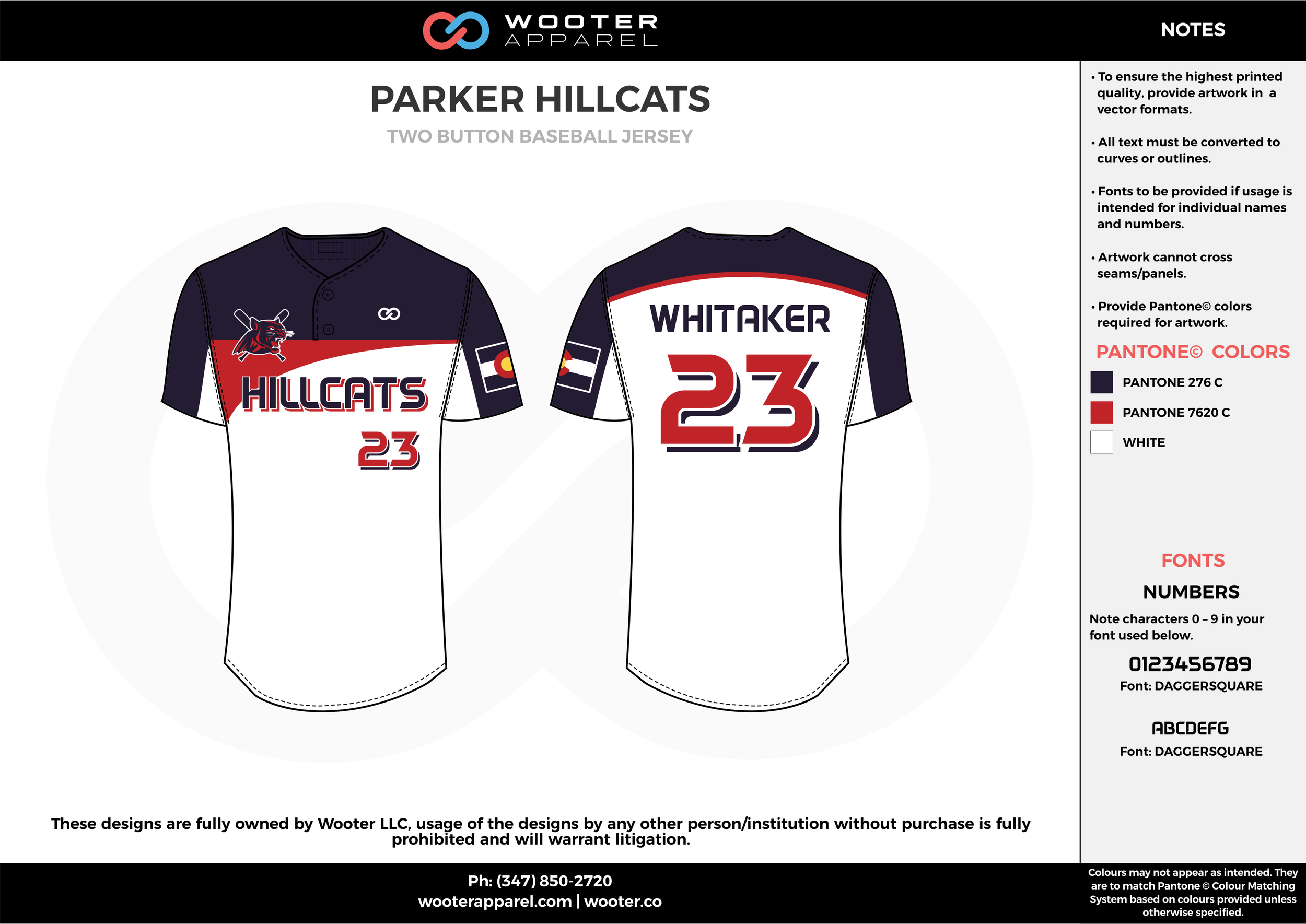 PARKER HILLCATS white red black baseball uniforms jerseys pants