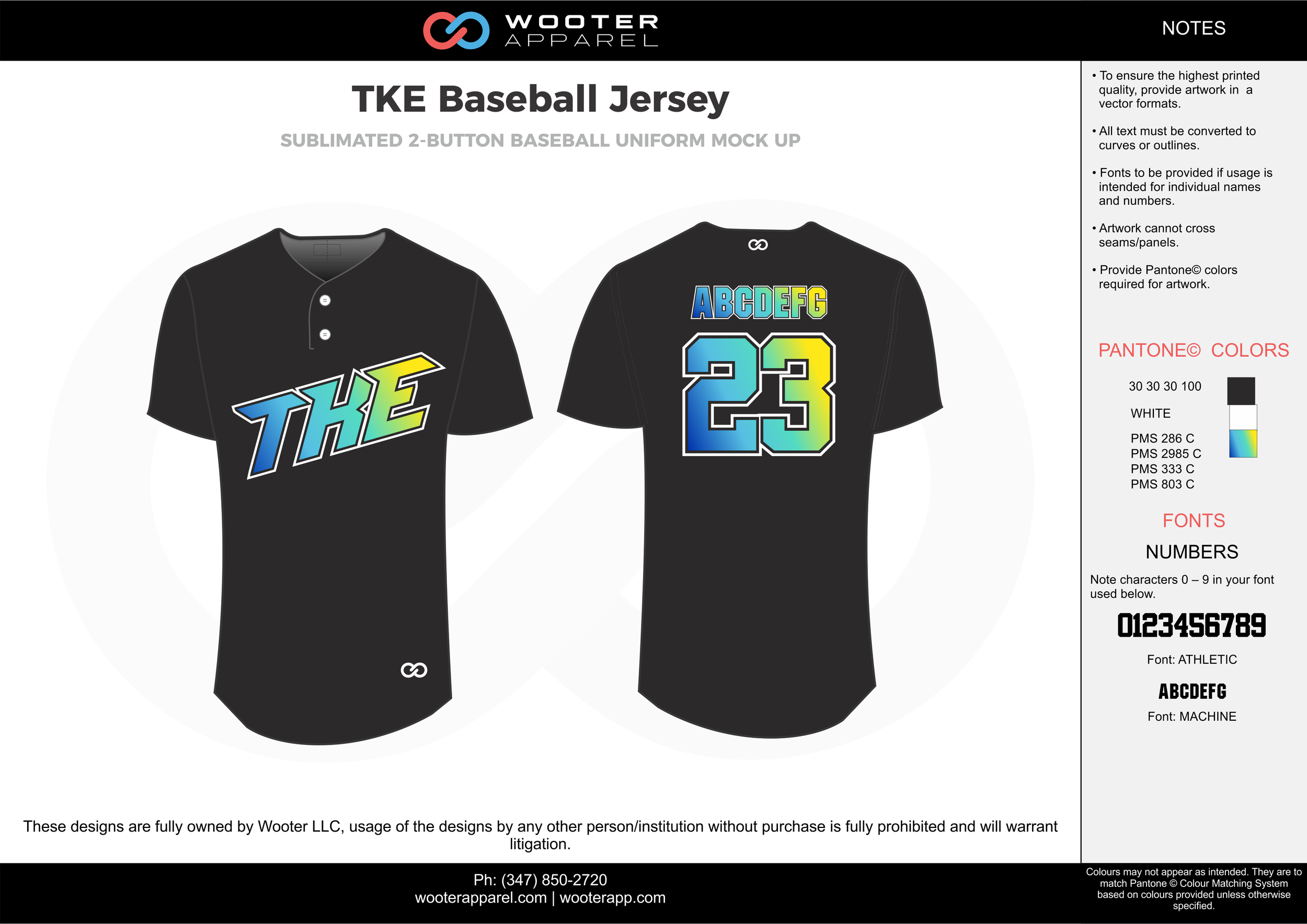 TKE BASEBALL JERSEY black white blue baseball uniforms jerseys tops
