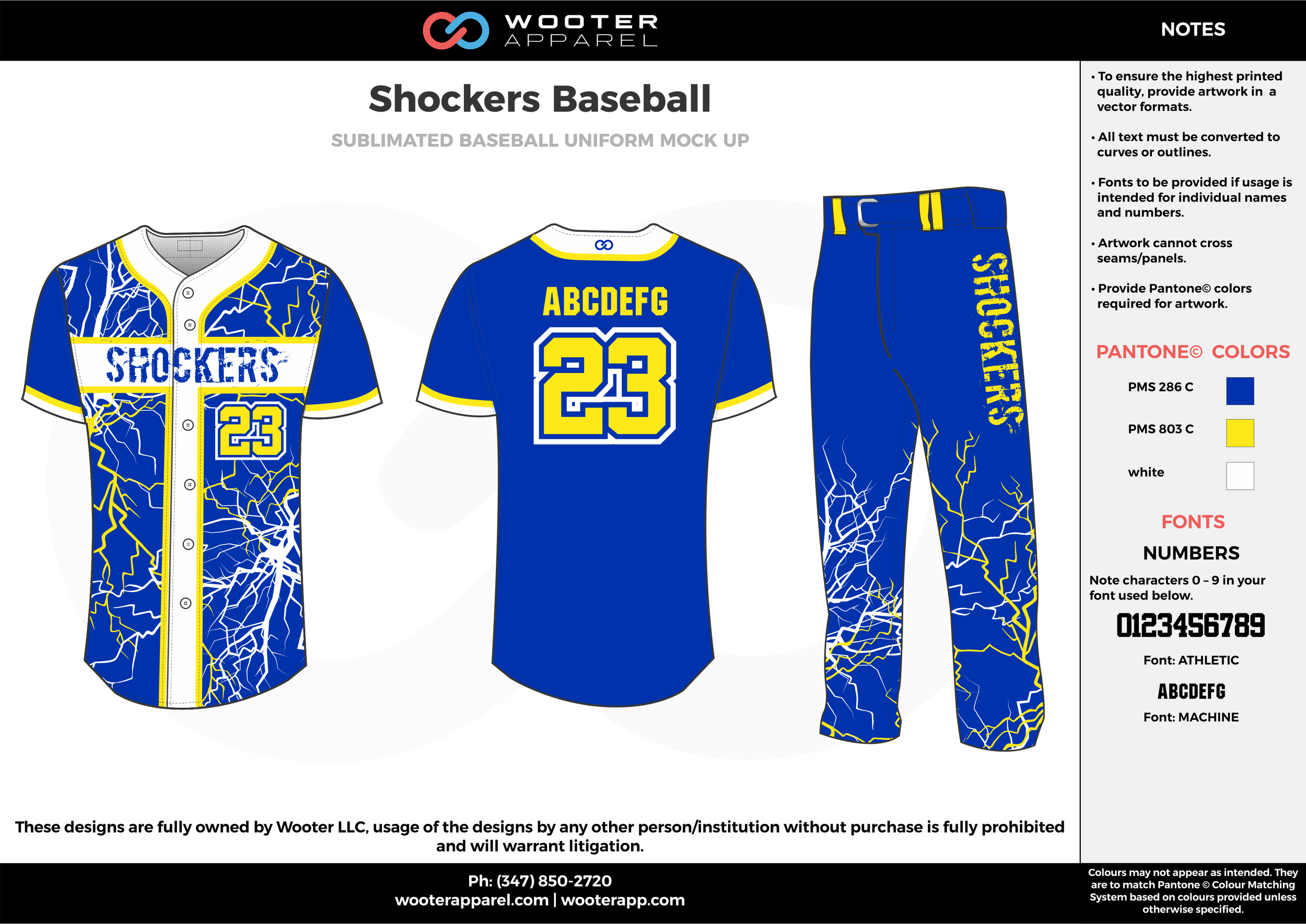 SHOCKERS BASEBALL blue yellow white baseball uniforms jerseys pants
