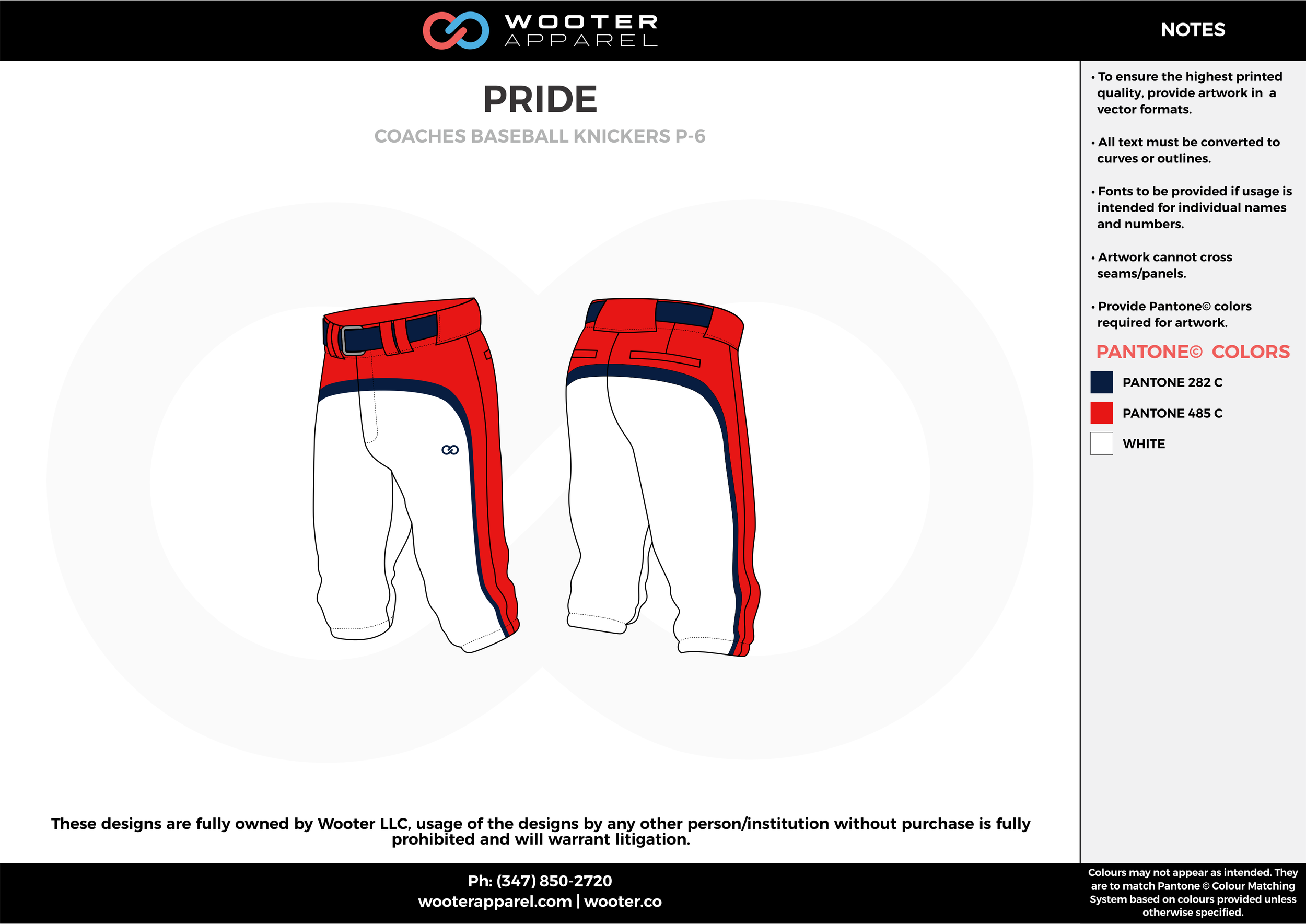 PRIDE red white darkblue baseball uniforms jerseys pants