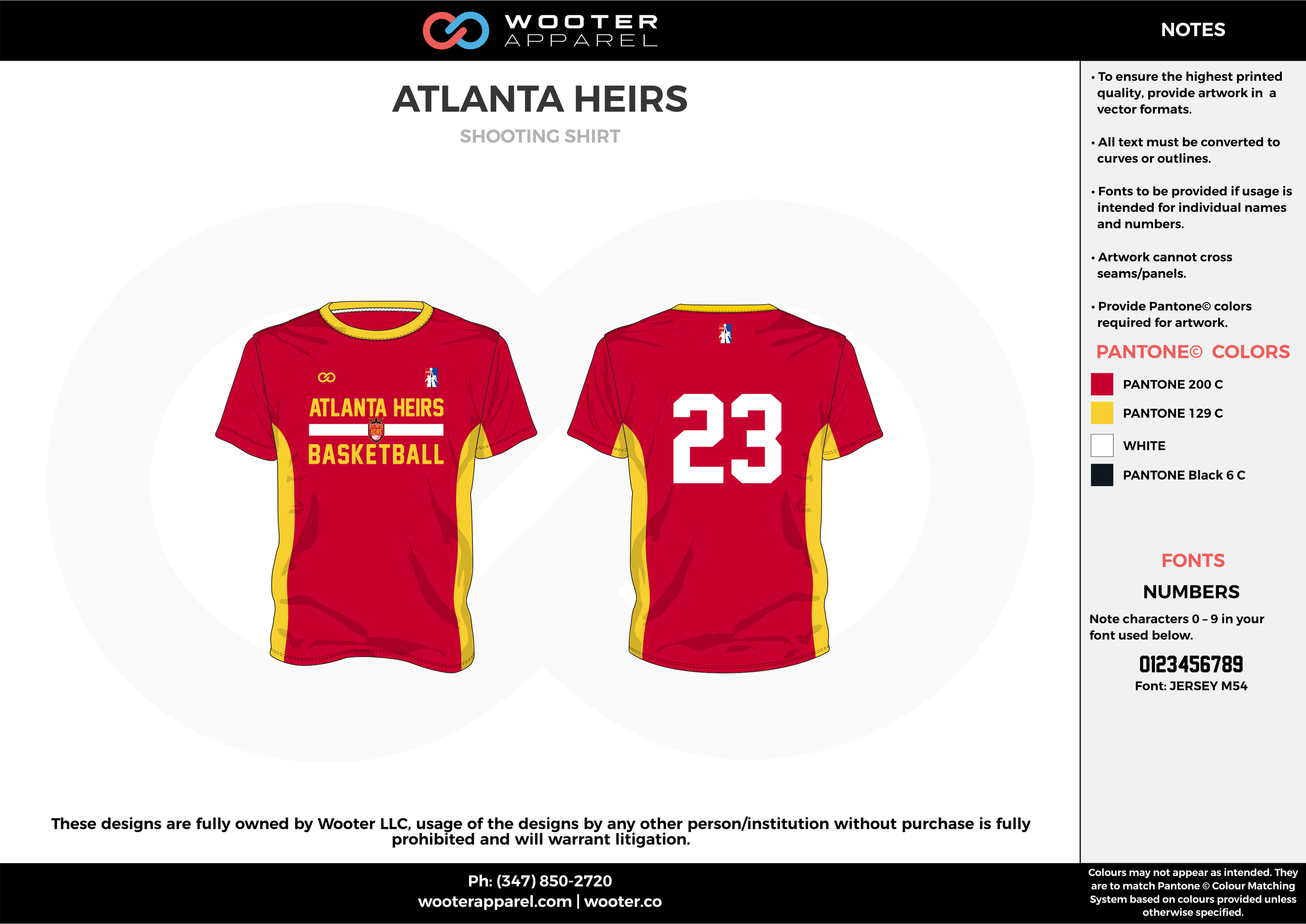 ATLANTA HEIRS red yellow white Basketball Short Sleeve Shooting Shirt