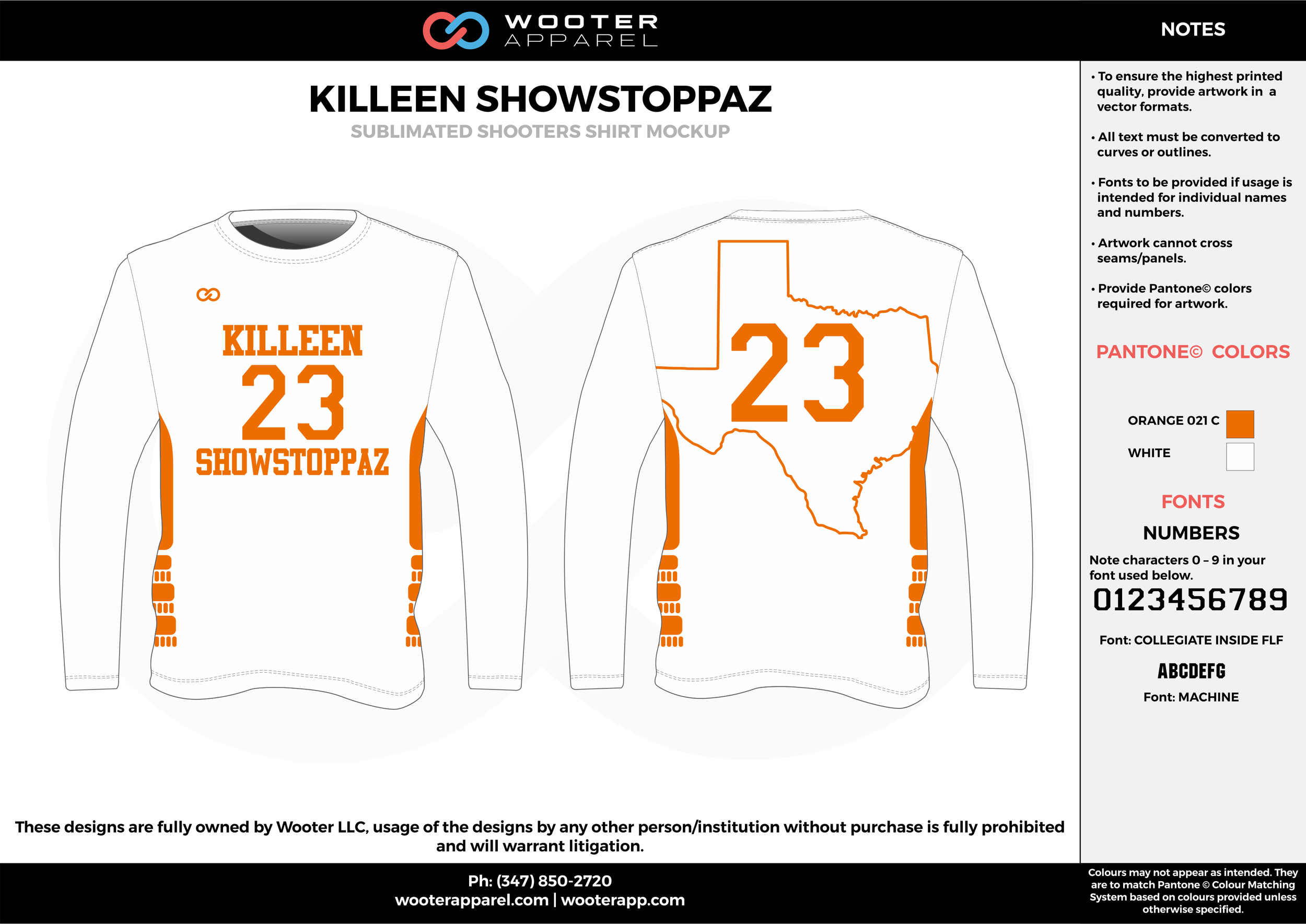 KILLEN SHOWSTOPPAZ orange white Basketball Long Sleeve Shooting Shirt