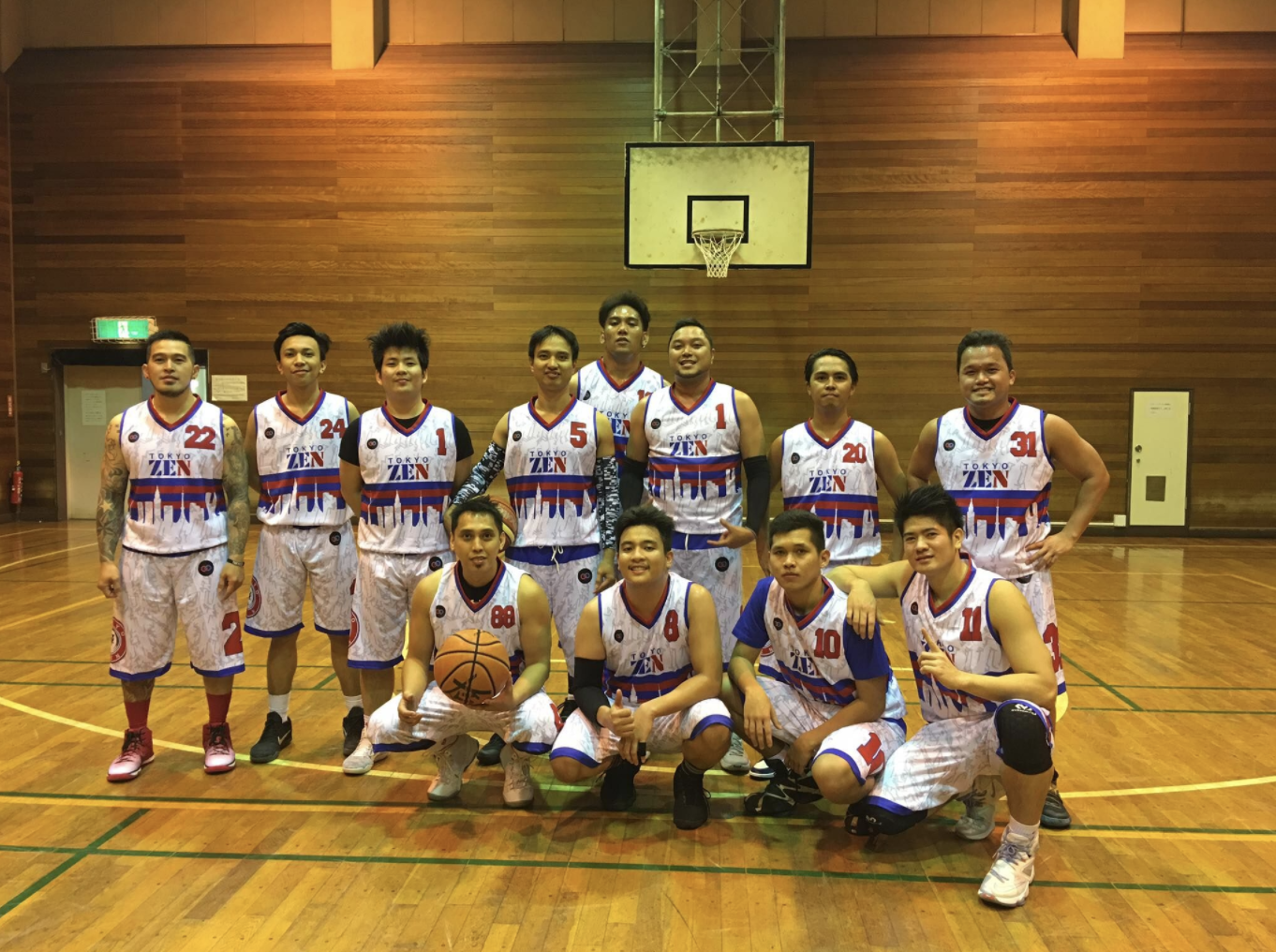 The team from Toyko Zen Basketball in Japan is just one of over 25 countries where Wooter Apparel has designed team jerseys and uniforms to be showcased on a global level.
