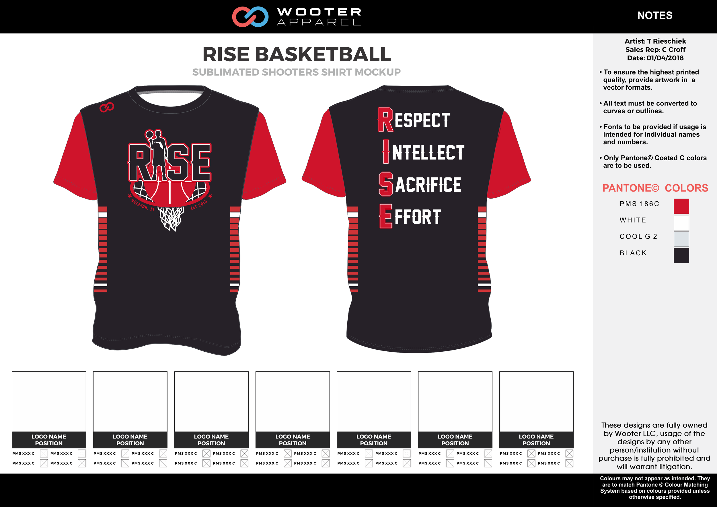 RISE BASKETBALL red black gray white Basketball Short Sleeve Shooting Shirt
