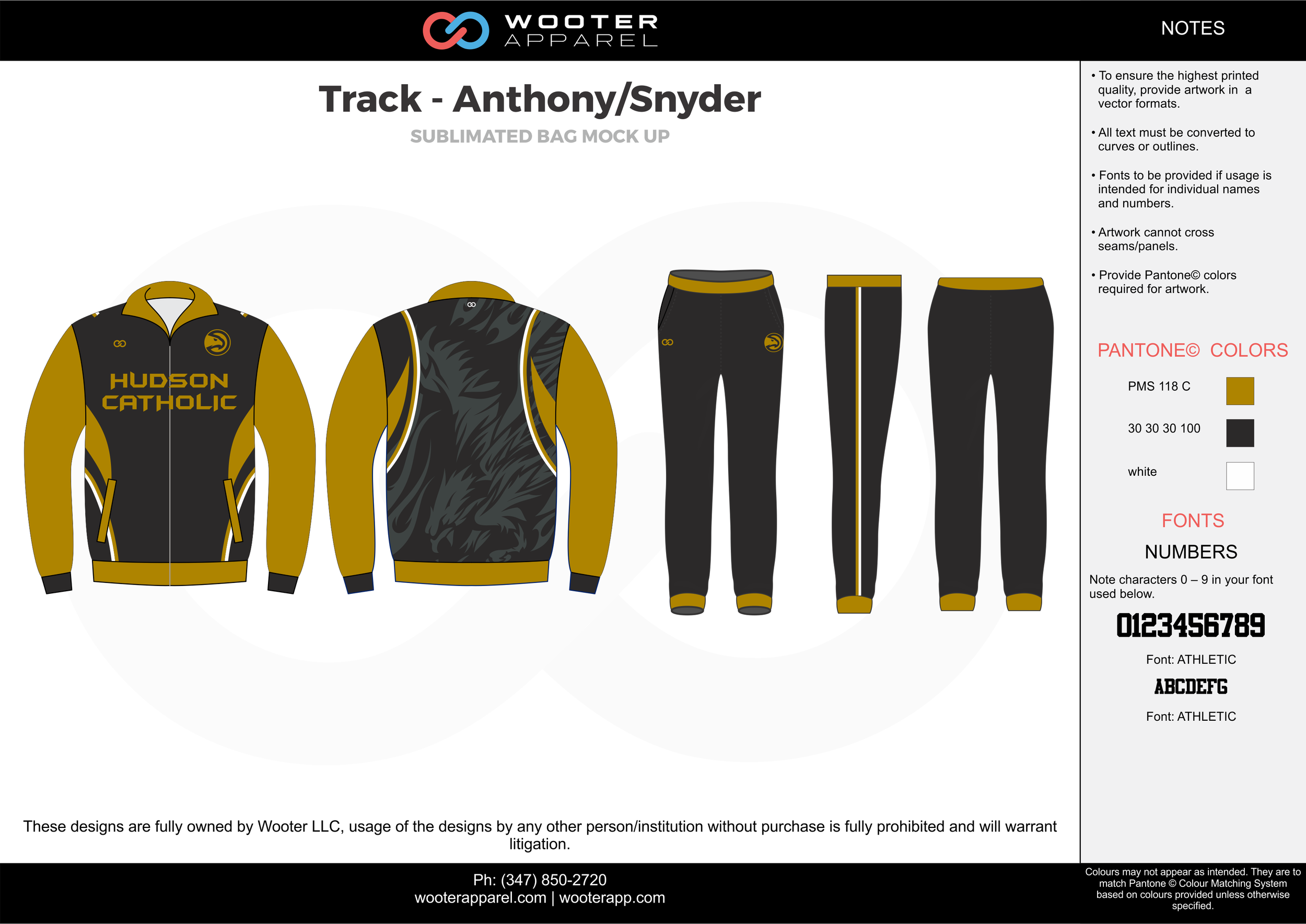 Track - Anthony / Snyder Yellow Black and White Track Jacket and Track Pants
