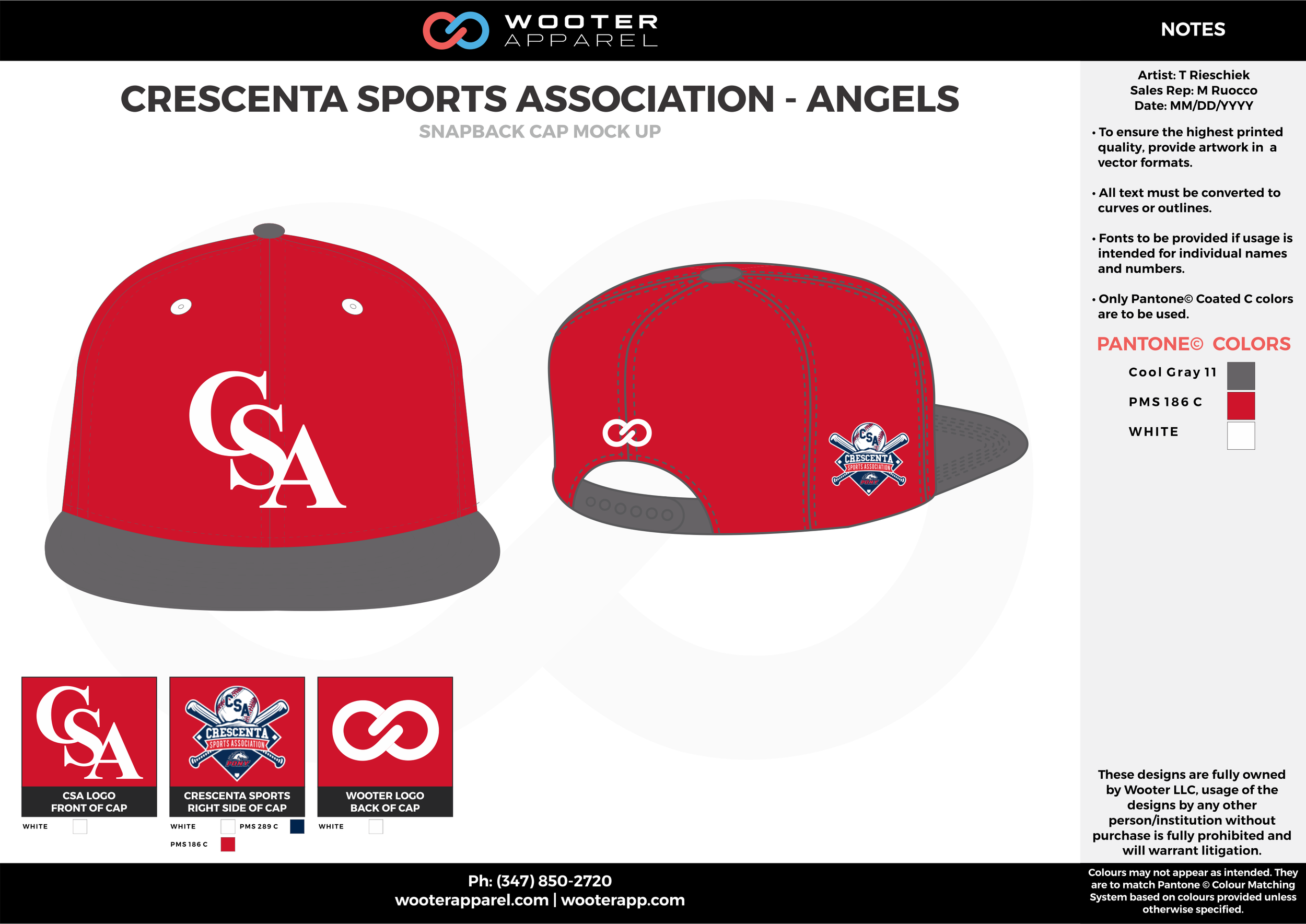 CRESCENTA SPORTS ASSOCIATION - ANGELS Gray Red and White Basketball Snapback Hat and Cap