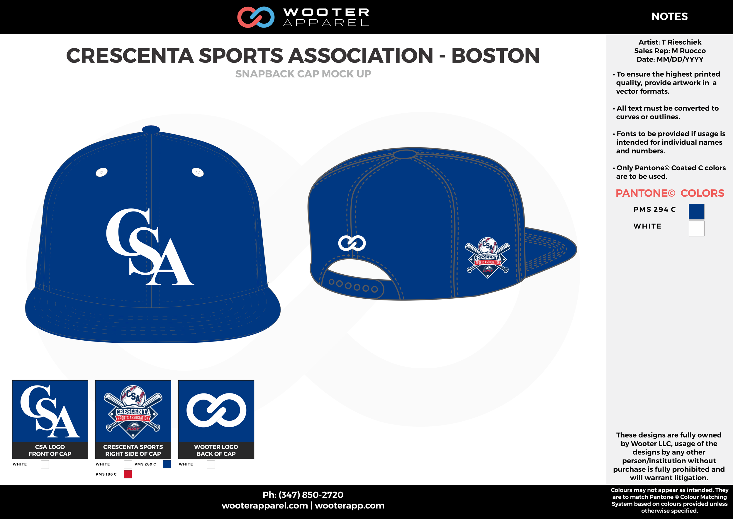 CRESCENTA SPORTS ASSOCIATION - BOSTON Blue and White Basketball Snapback Hat and Cap