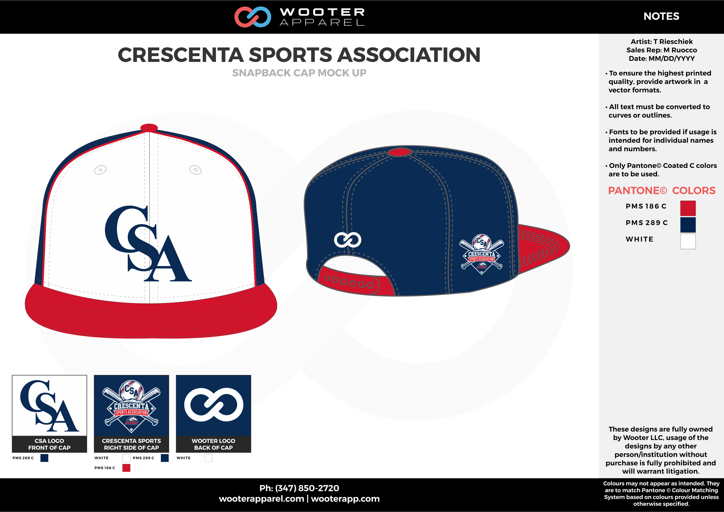 CRESCENTA SPORTS ASSOCIATION Blue Red and white Basketball Snapback Hat and Cap