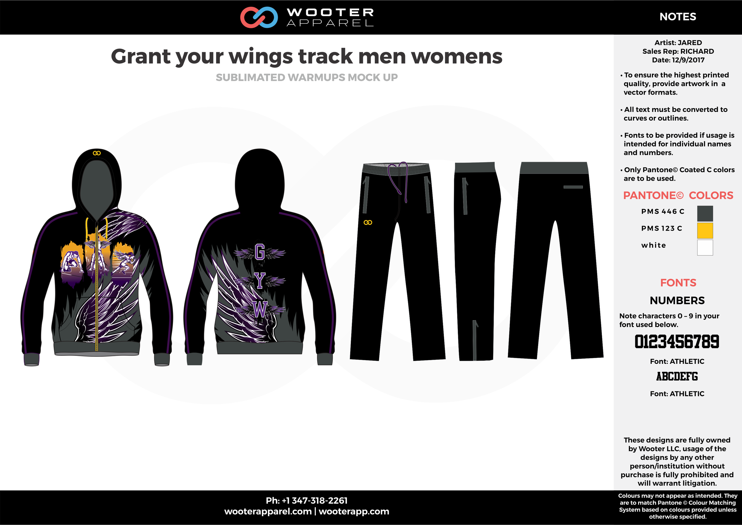 Crant your wings track men womens black purple yellow and gray sublimated compression track uniforms hoodie and pants