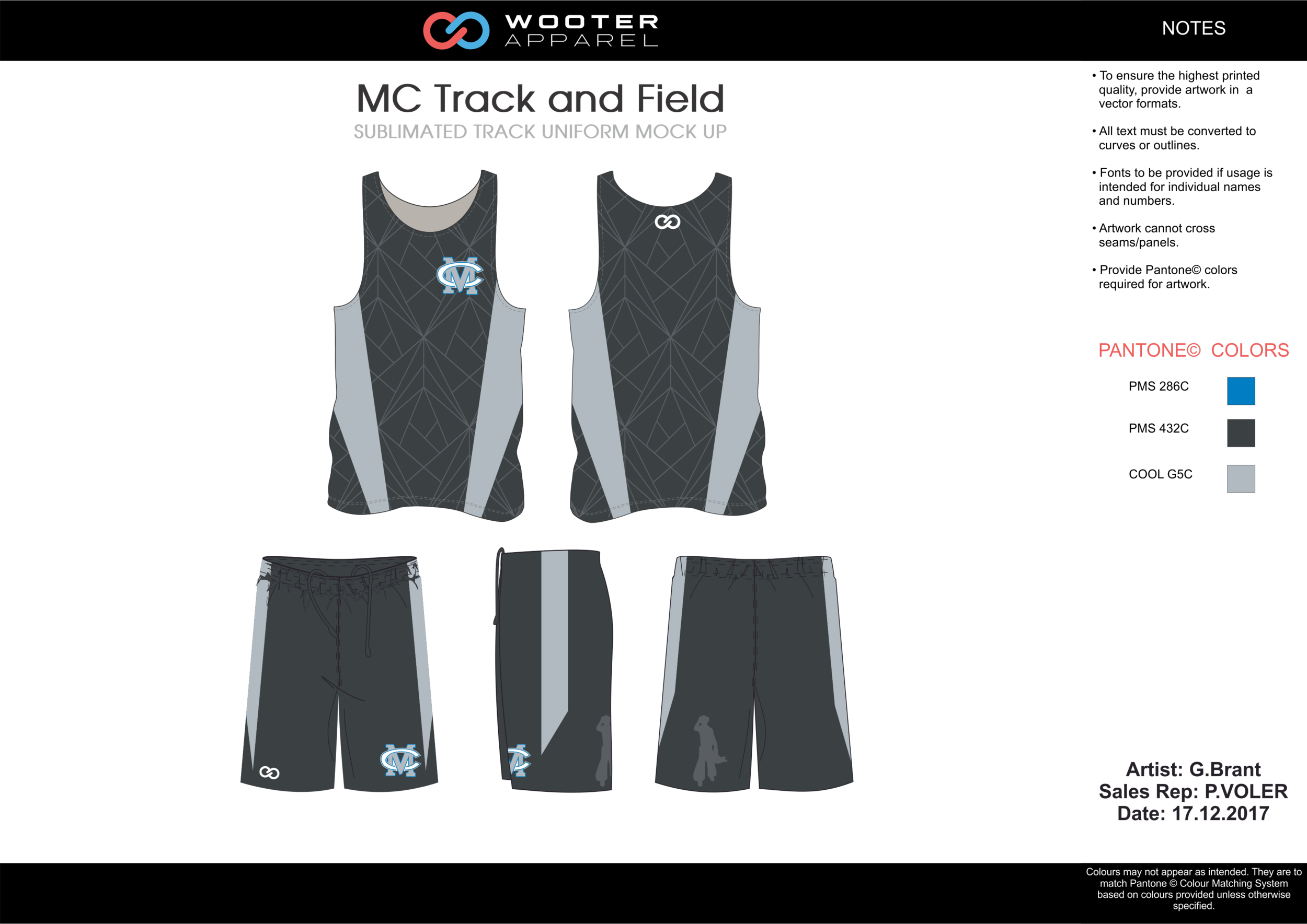 MC Track and Field Blue Black and Gray Basketball Track Uniforms Jerseys and Shorts