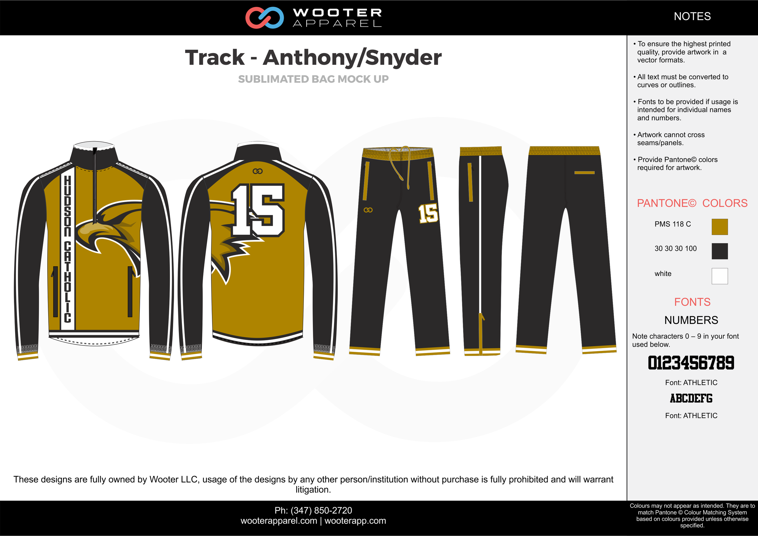 Track - Anthony/Snyder Yellow Black and white Basketball Track Uniforms Jackets and Pants