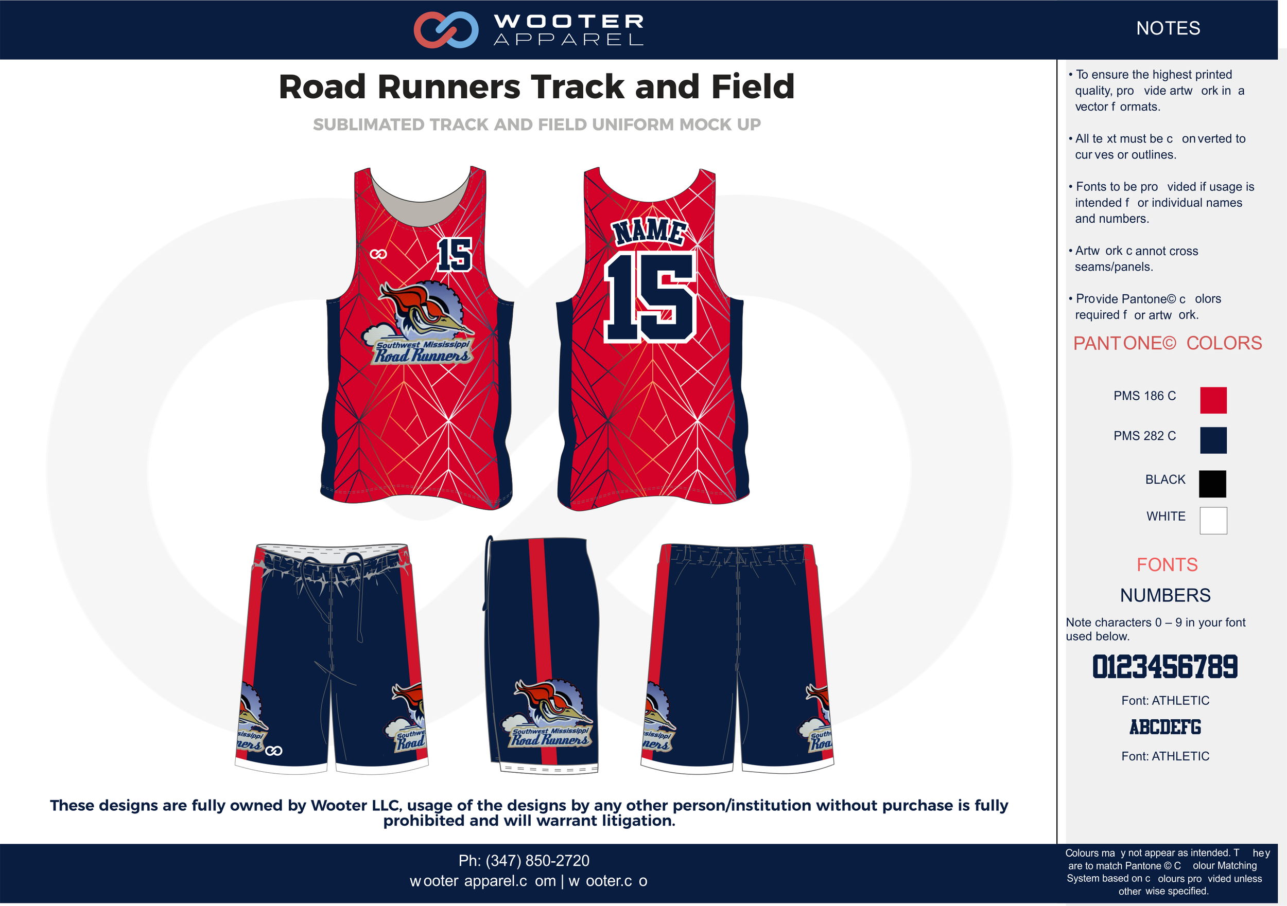 Road Runners Track and Field Red Blue Black and white Basketball Track Uniforms Jerseys and Shorts