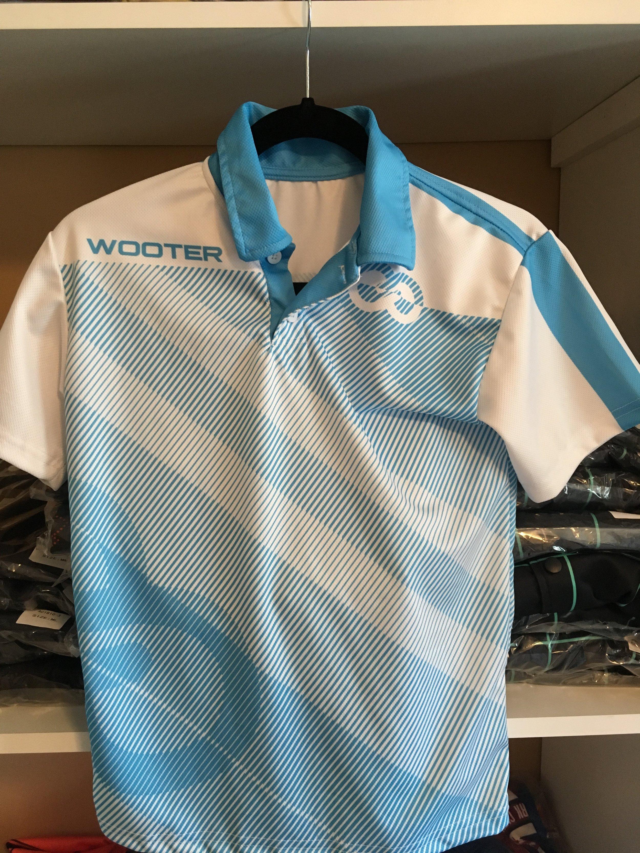 Sky Blue and White Lacrosse Uniform Polo shirt
