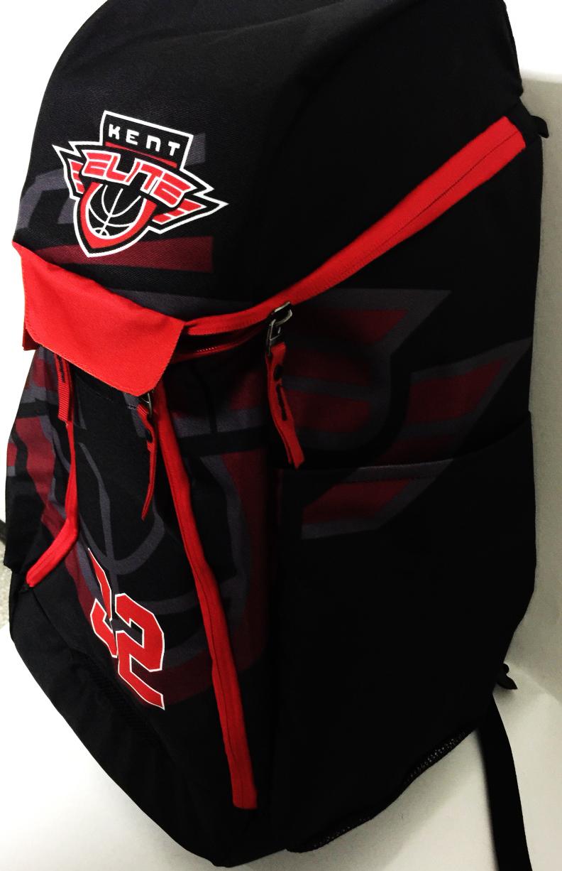 KENT ELITE Red Black and White Basketball Backpack