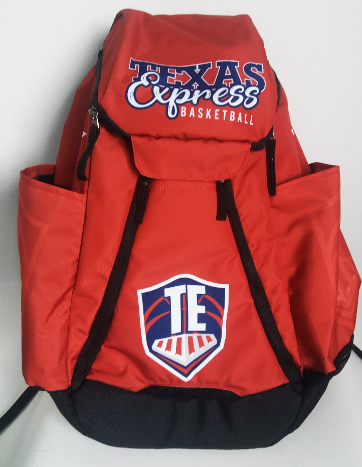 Texas Express Red Black White and Blue Basketball Backpack