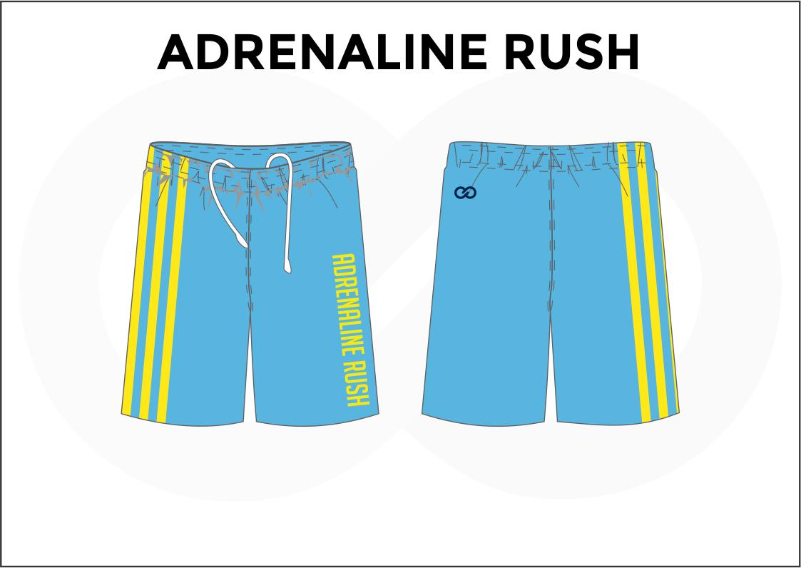 ADRENALINE RUSH Skyblue Yellow Blue and White Men's Basketball Shorts