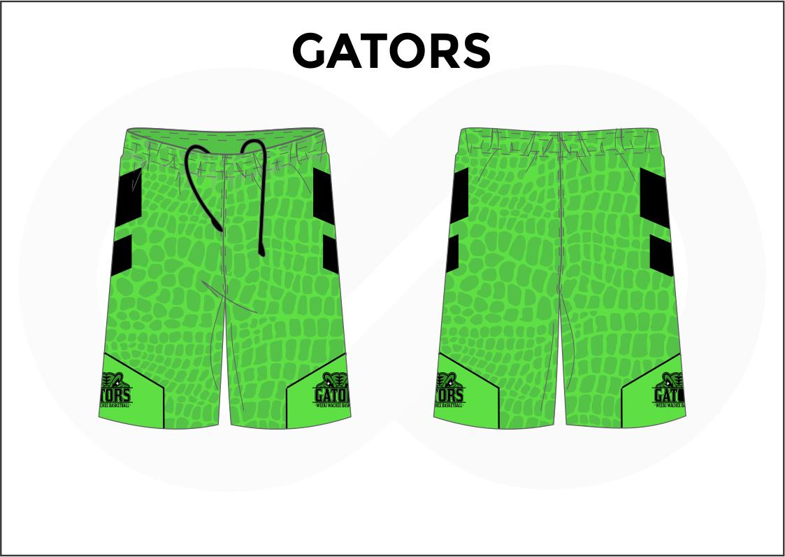 GATORS APPLE Green and Black Men's Basketball Shorts