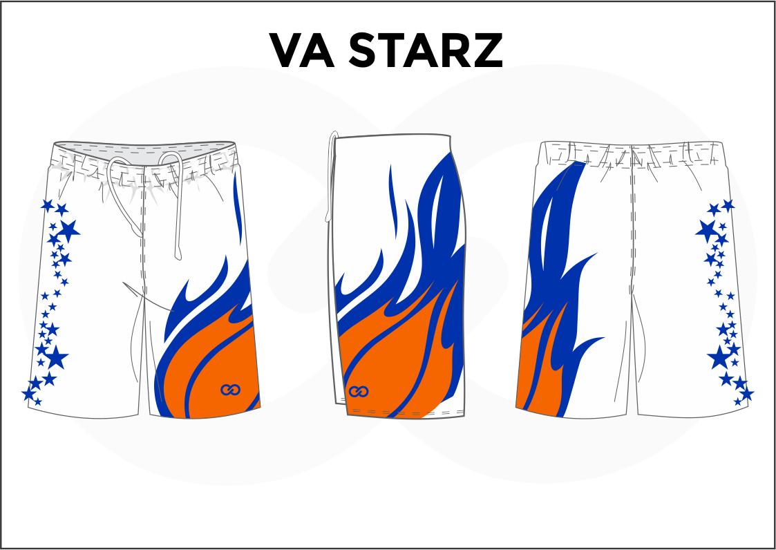 VA STARZ White Blue and Orange Men's Basketball Shorts