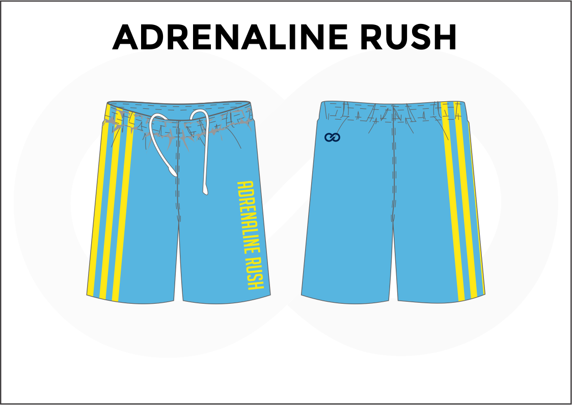 ADRENALINE RUSH Skyblue Blue and Yellow Youth Boys & Girls Basketball Shorts