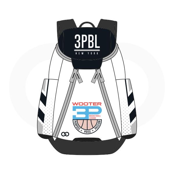 3PBL Black White Blue and Red Basketball Backpacks Nike Elite