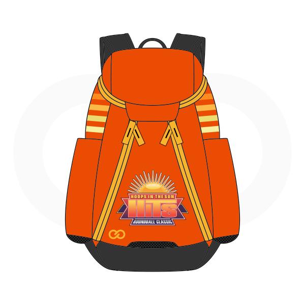 HITS Orange White Red Yellow Blue and Black Basketball Backpacks Nike Elite