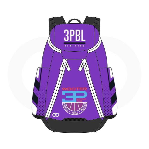 3PBL Violet White Red Blue and Black Basketball Backpacks Nike Elite